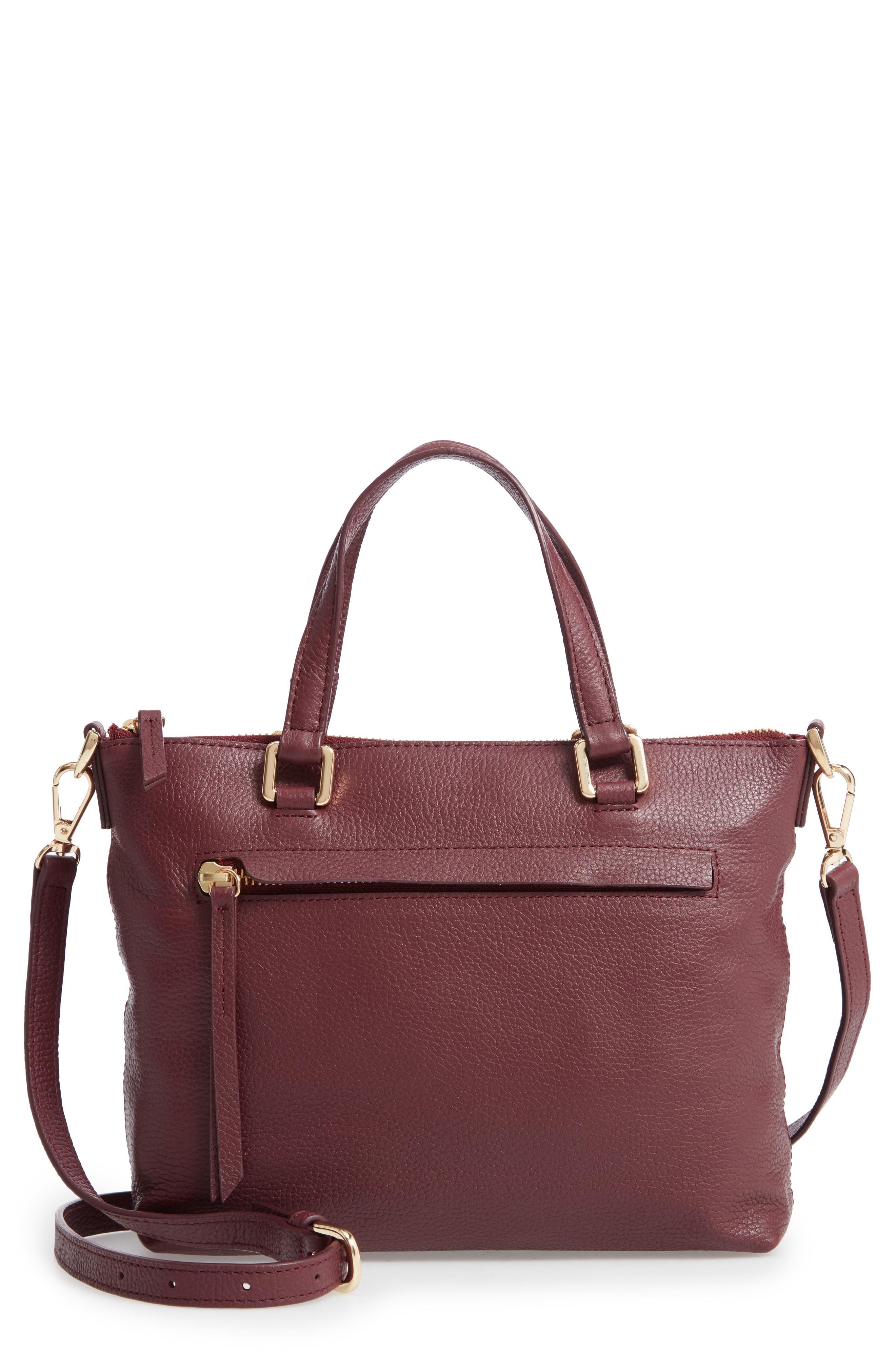 13a0ec47113 Lyst - Nordstrom Lexa Leather Crossbody Bag - Burgundy