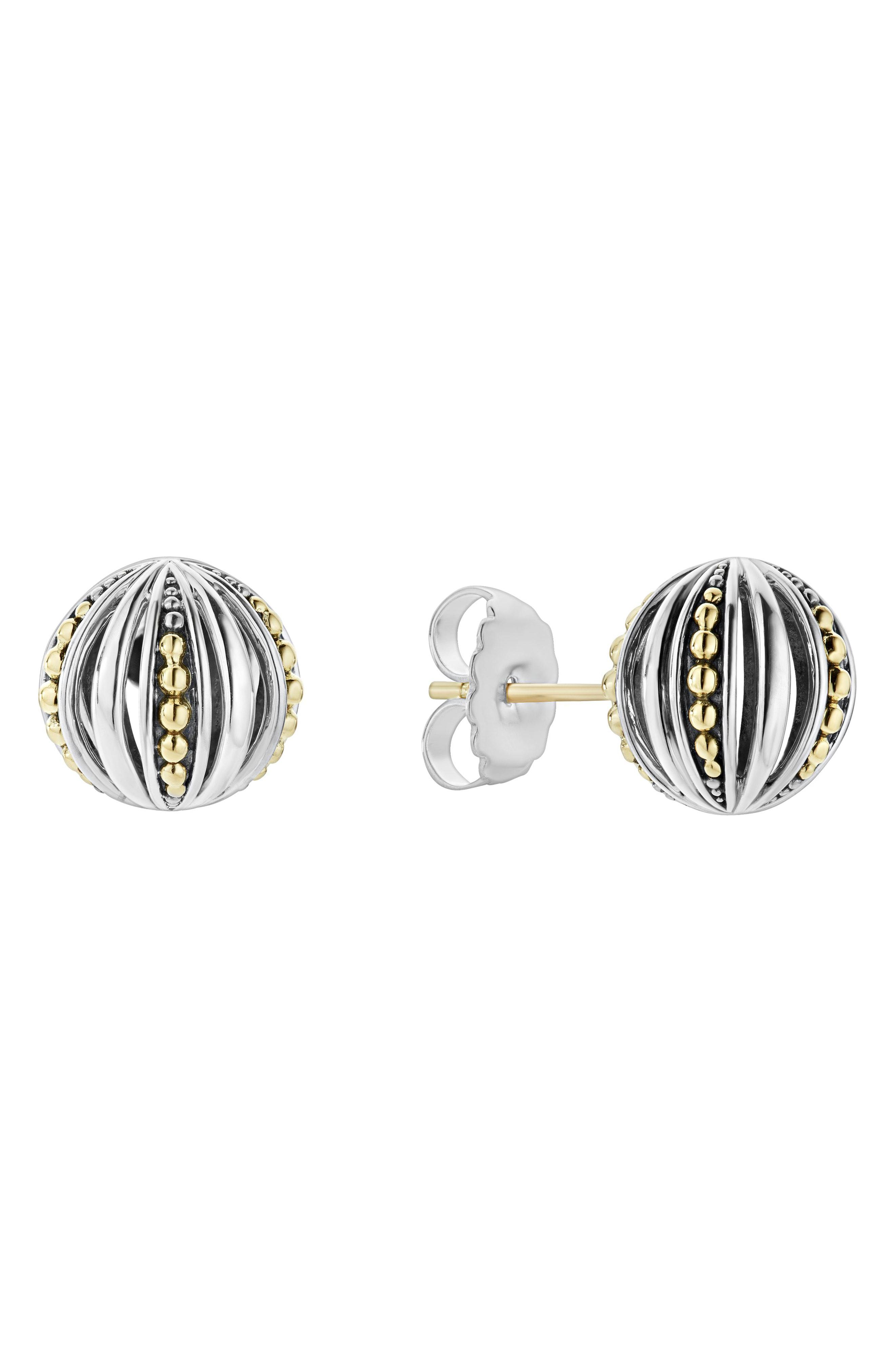 Womens Lagos Signature Gifts Beaded Ball Stud Earring