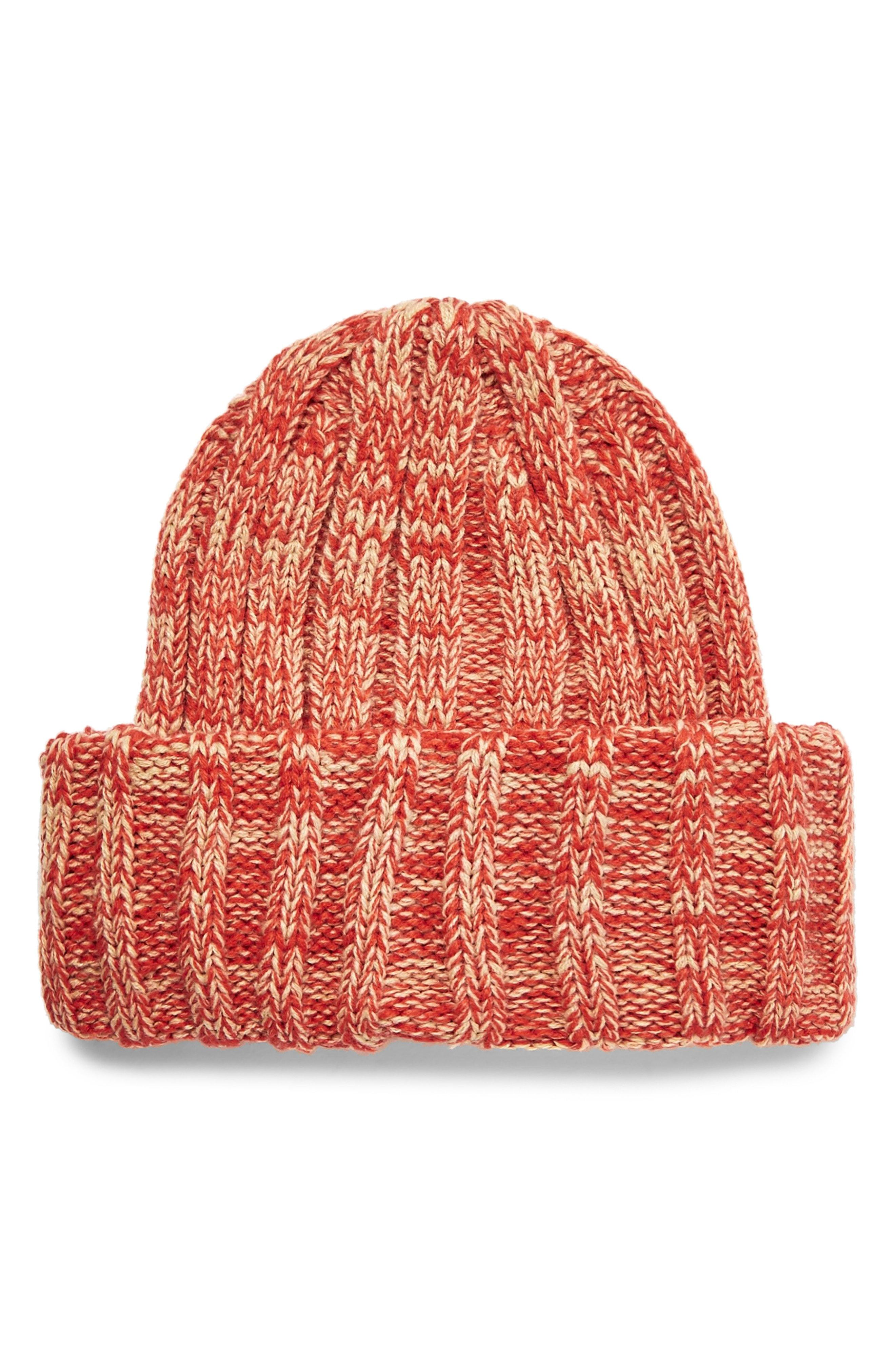 7d3f7766be1 Lyst - Topman Oversize Rib Beanie - in Red for Men