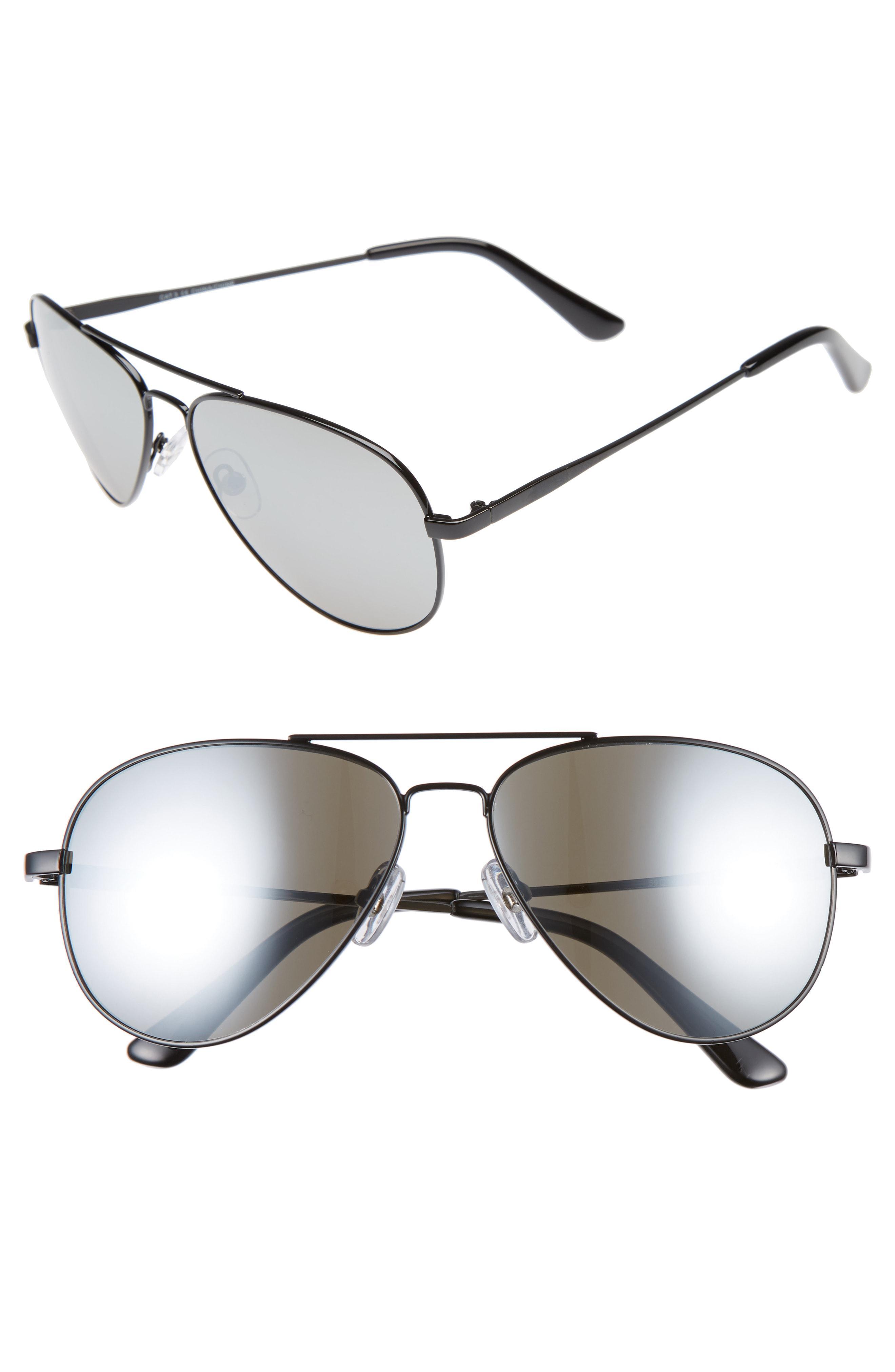 8db1c532abf Lyst - Nordstrom 1901 Pace 60mm Aviator Sunglasses - in Metallic for Men