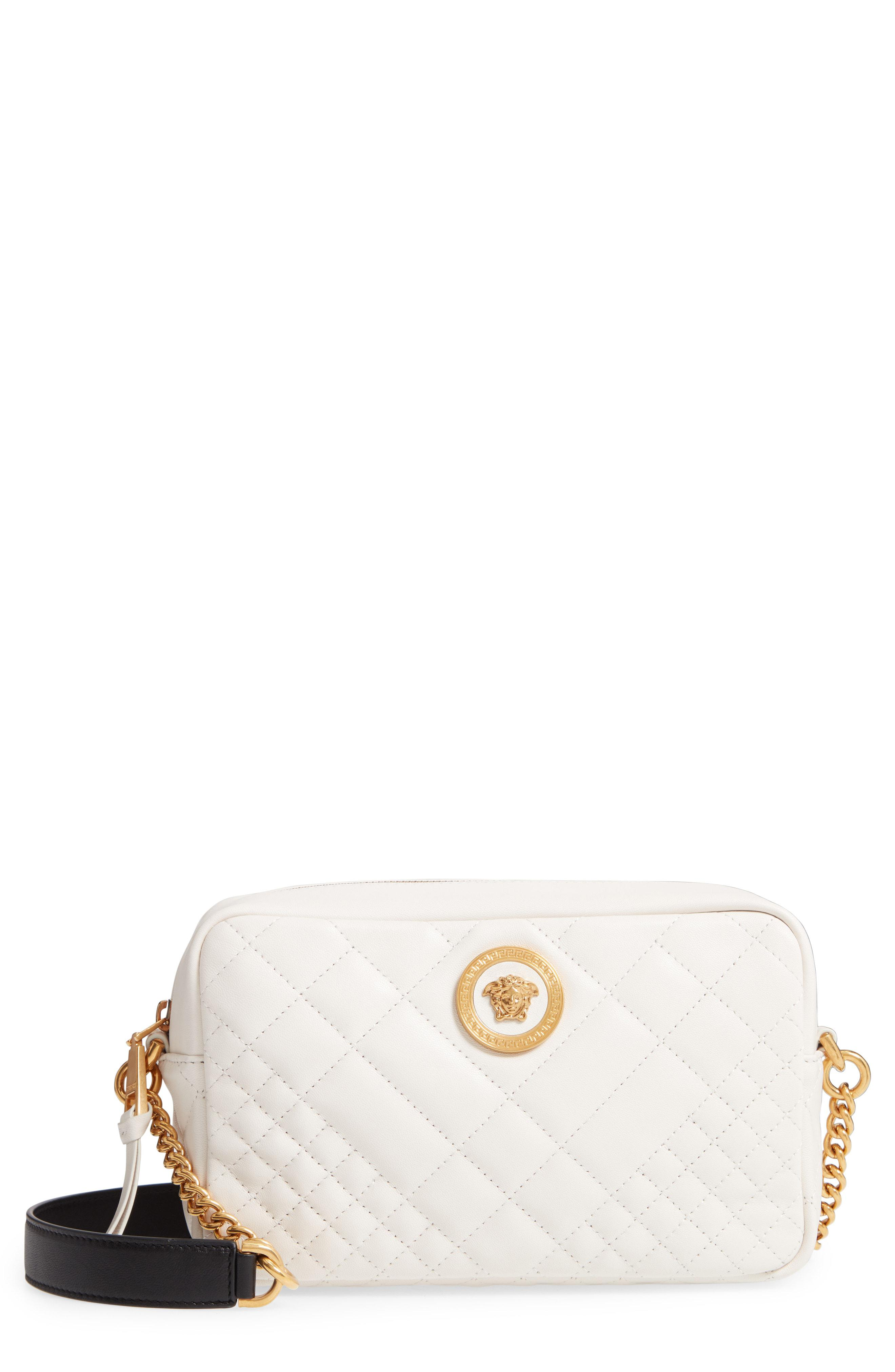 7c06a87cc2 Versace. Women s Tribute Quilted Leather Camera Bag -