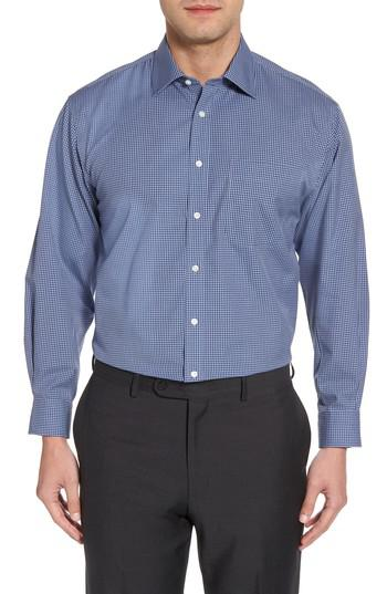 Lyst nordstrom smartcare classic fit check dress shirt for Nordstrom custom dress shirts