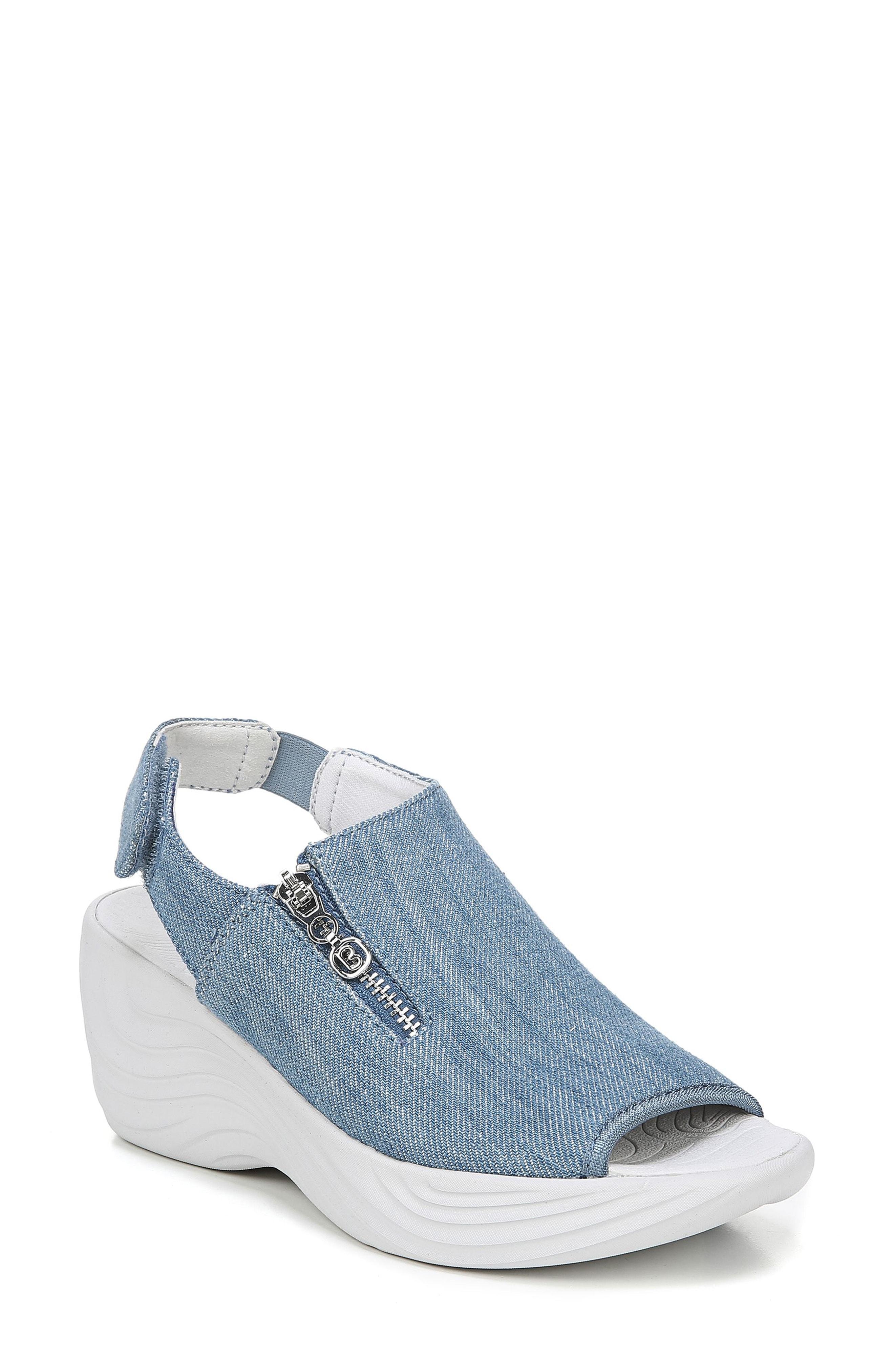 469183b4e8fe Lyst - Bzees Zipline Wedge Sandal in Blue - Save 1%