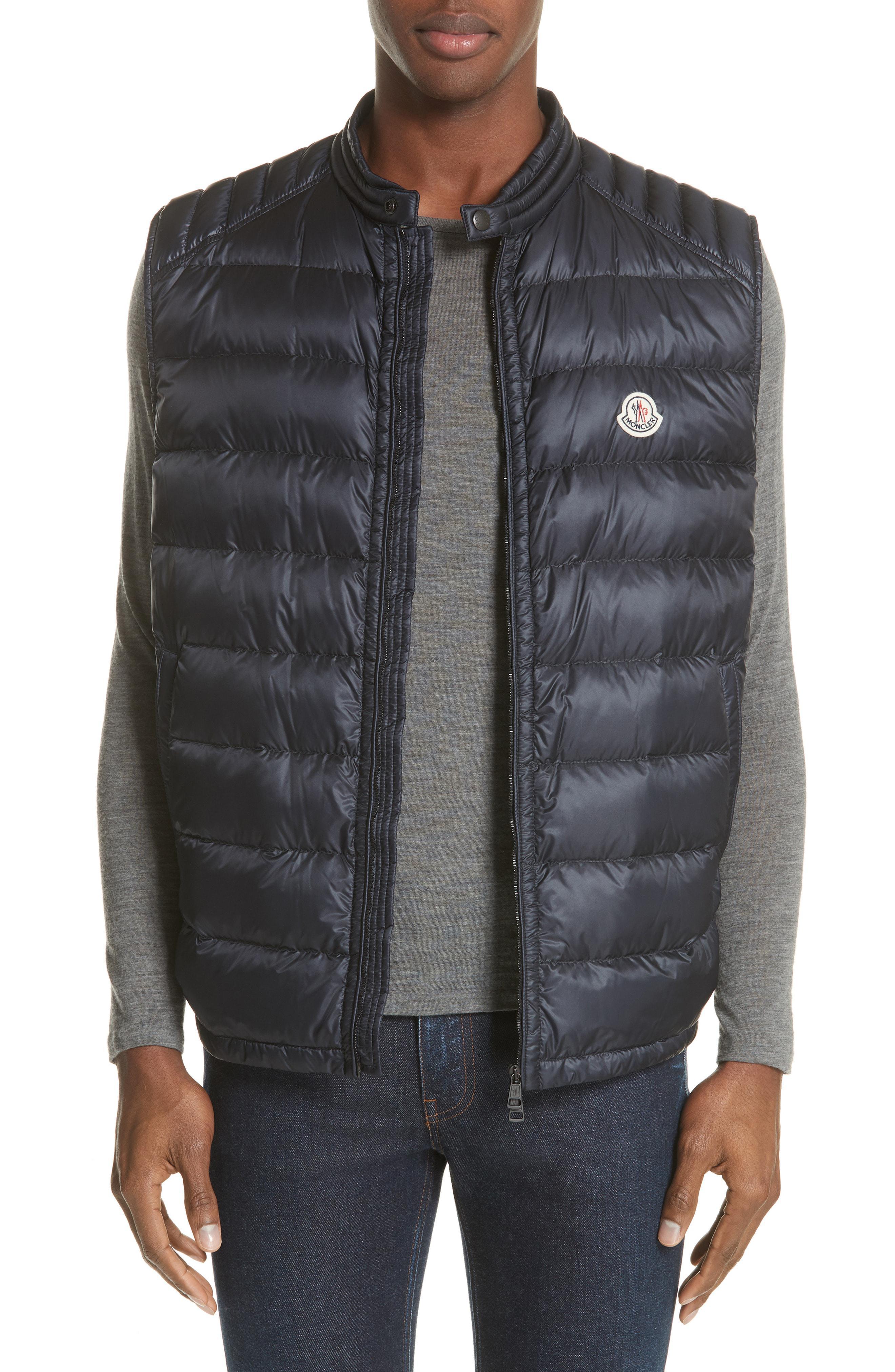 b507b97cb Lyst - Moncler Arves Down Vest in Blue for Men