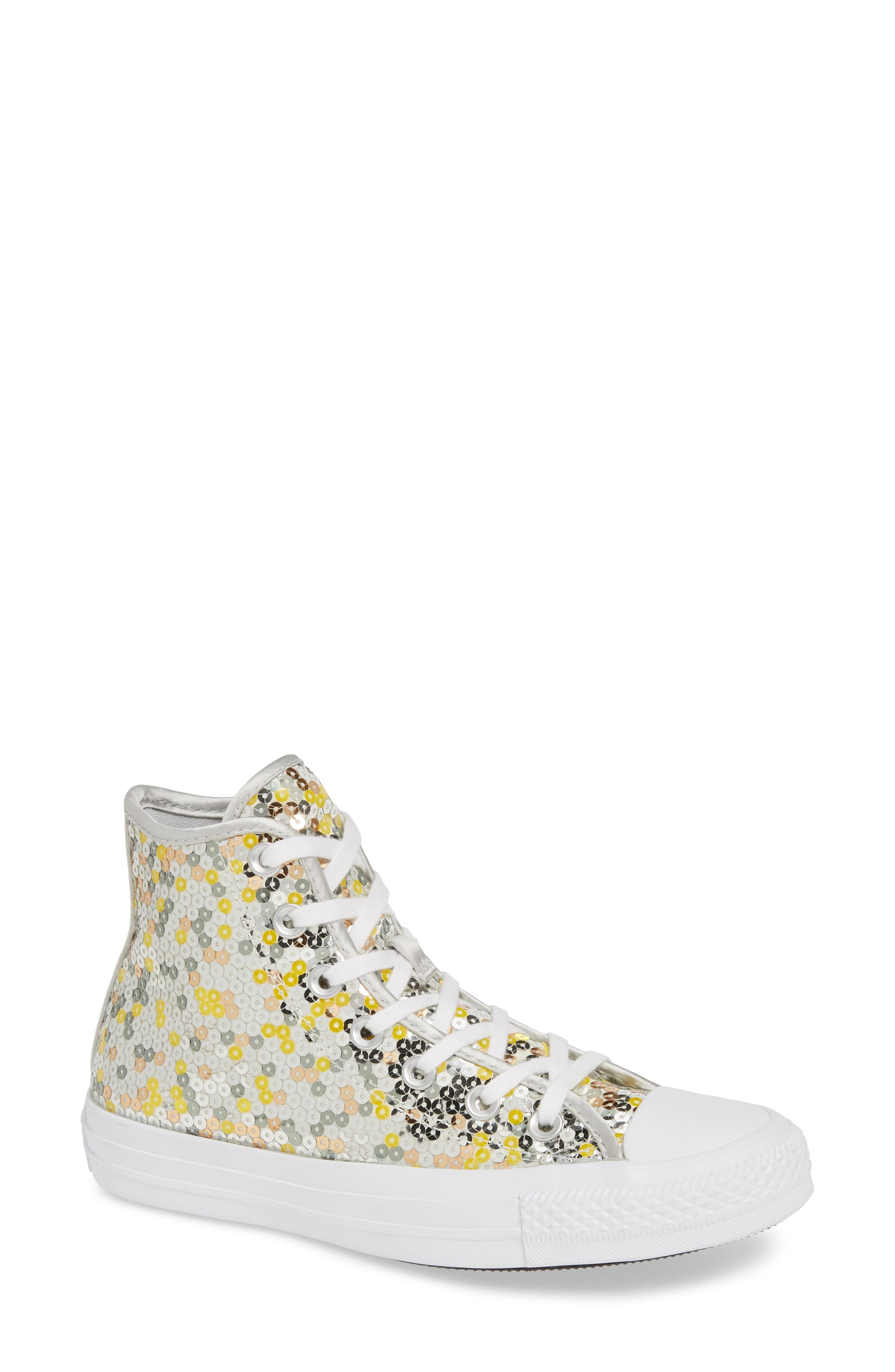 222368592990 Lyst - Converse Chuck Taylor All Star Sequin High Top Sneaker