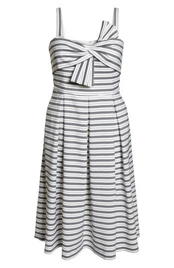 Lyst Nordstrom 1901 Stripe Bow Front Dress