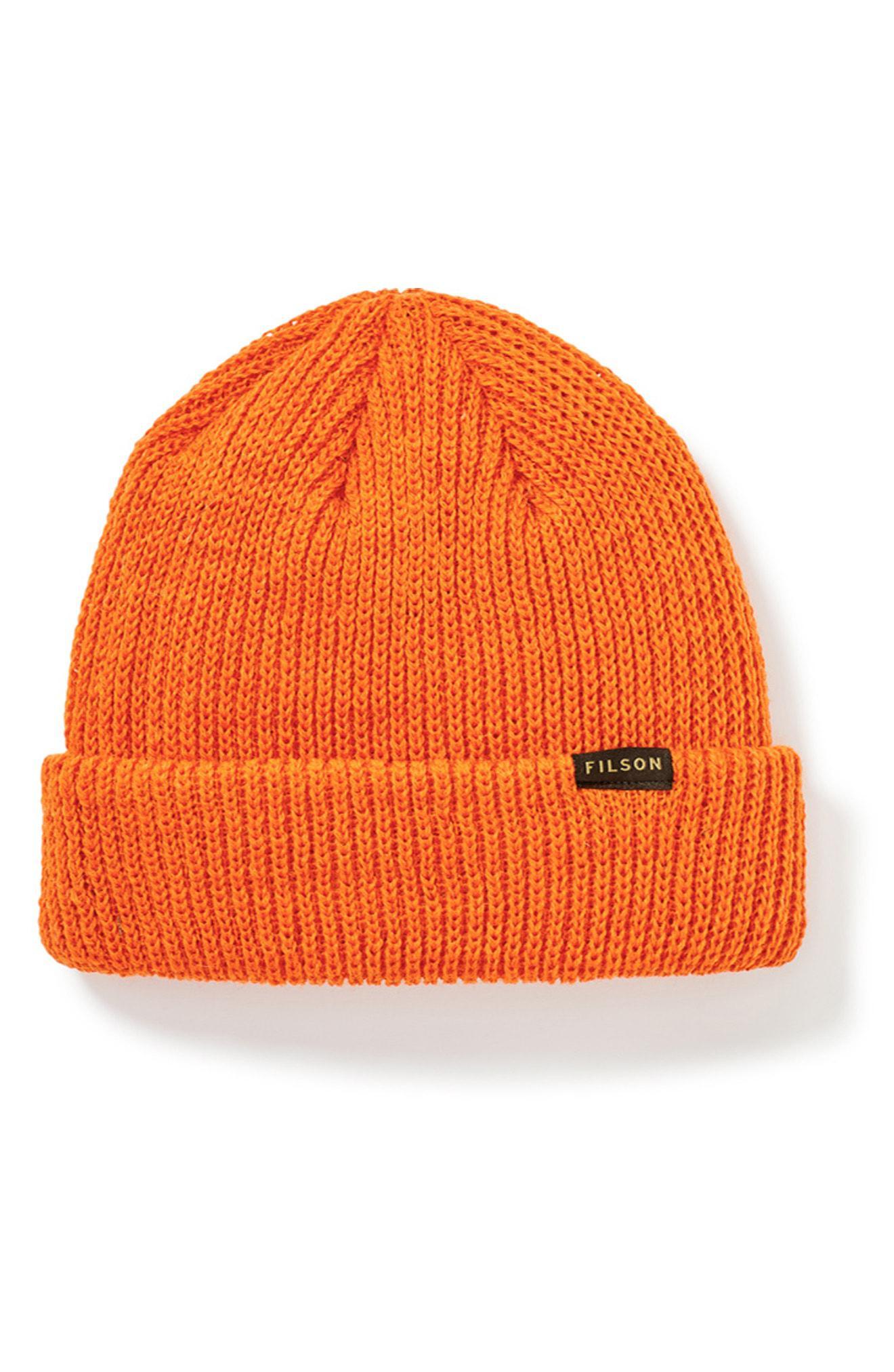 9e3905936c4 Filson - Orange Wool Watch Cap for Men - Lyst. View fullscreen