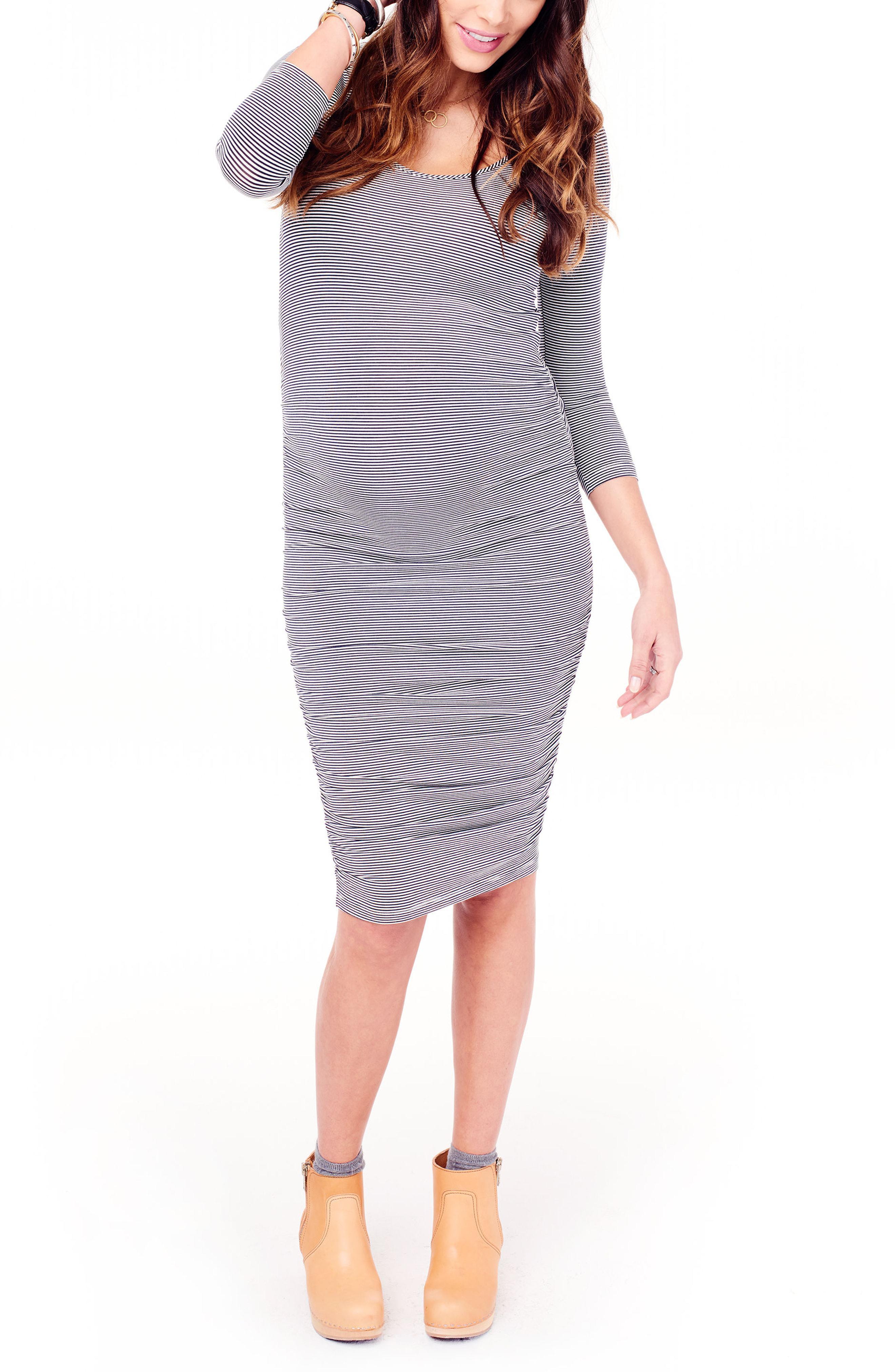 ab8a3ffaa3f Lyst - Ingrid   Isabel Ingrid   Isabel Shirred Maternity Dress in Blue