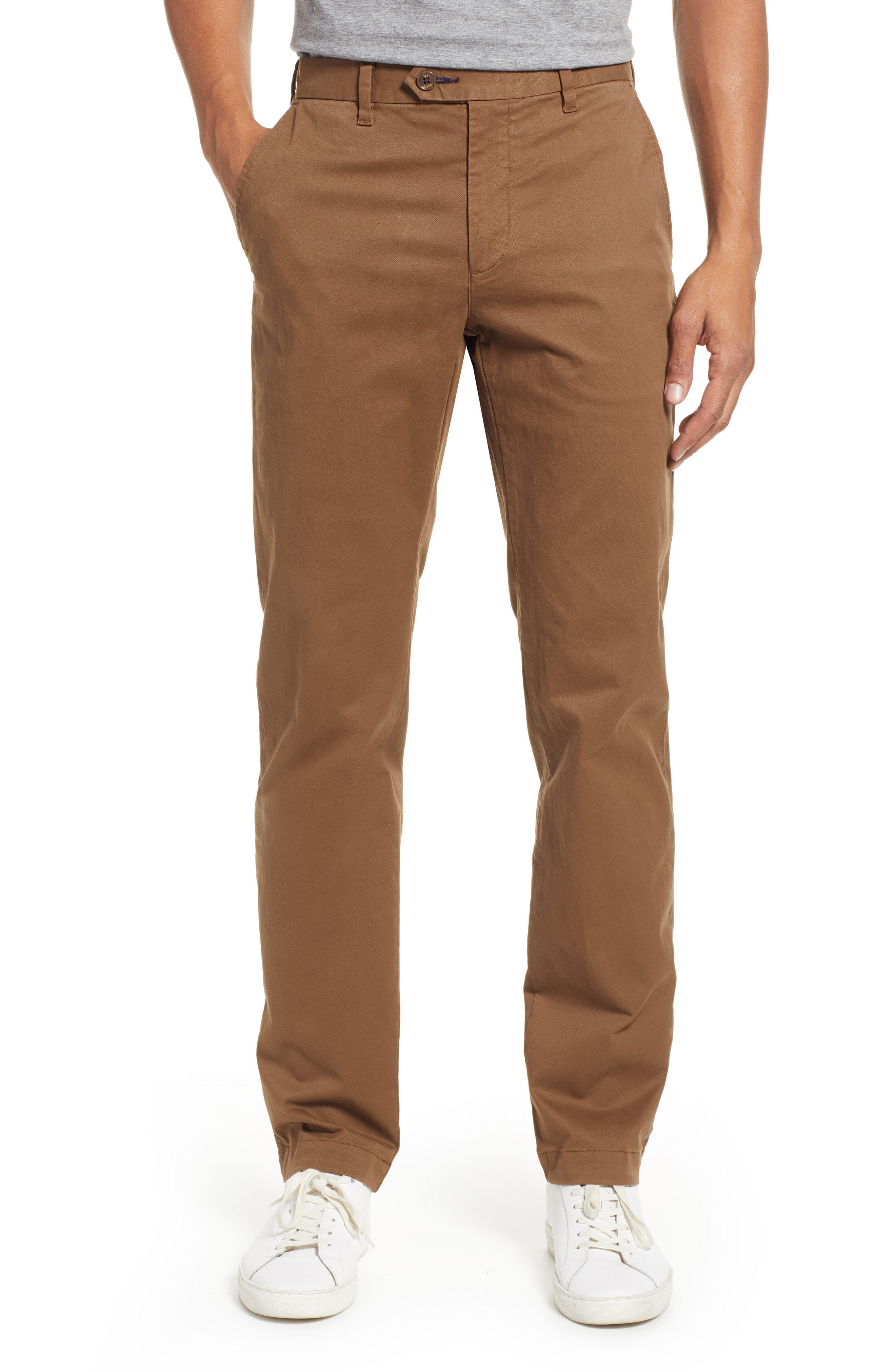 dd3b745fd Lyst - Ted Baker Selebtt Slim Fit Stretch Cotton Chinos in Natural ...
