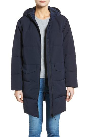 Lyst Everlane The Long Puffer Jacket In Blue