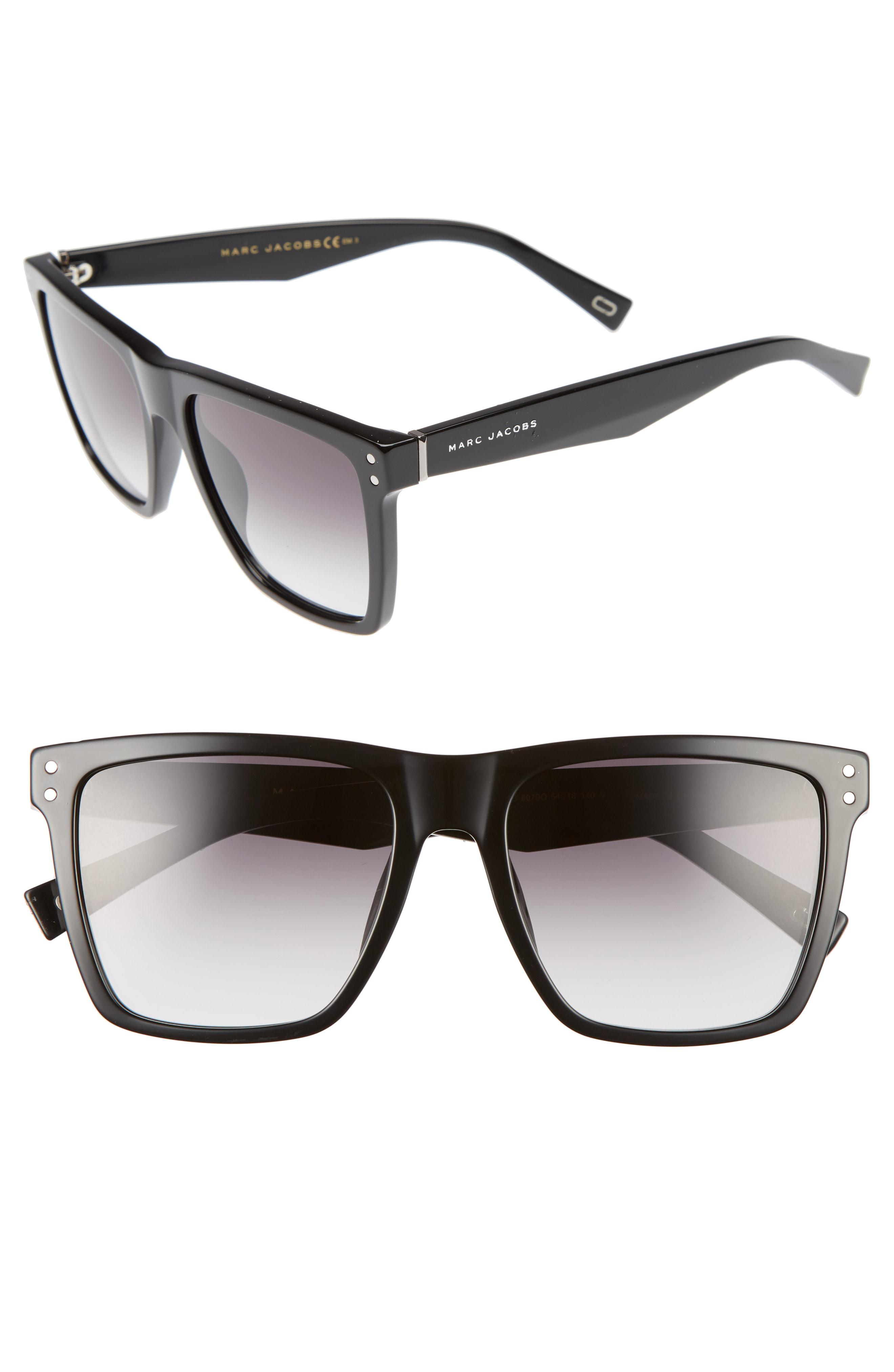 d6036a3c8a Lyst - Marc Jacobs 54mm Flat Top Gradient Square Frame Sunglasses in ...