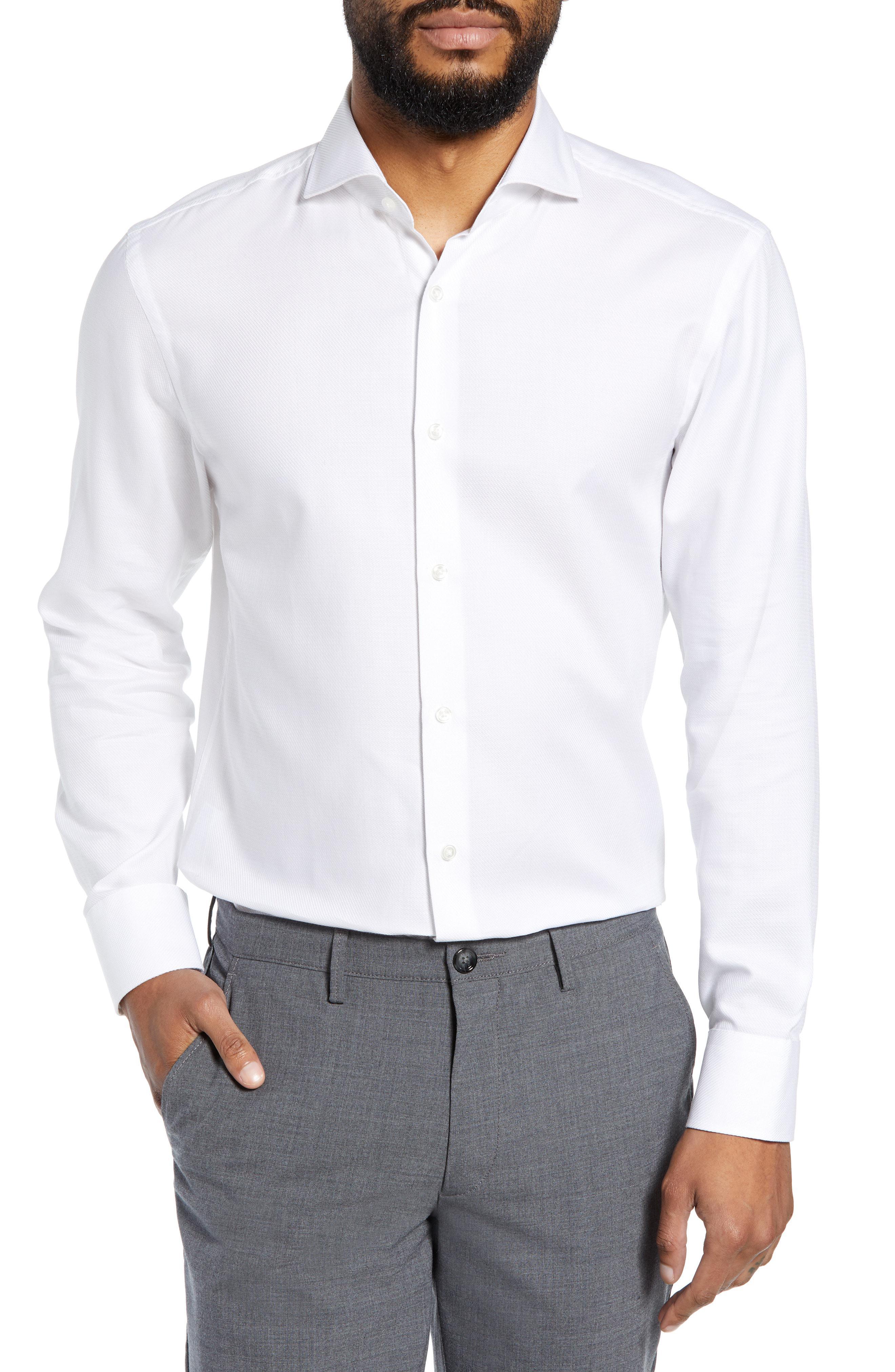 c27b6e2d3 Lyst - BOSS Sharp Fit Dress Shirt in White for Men