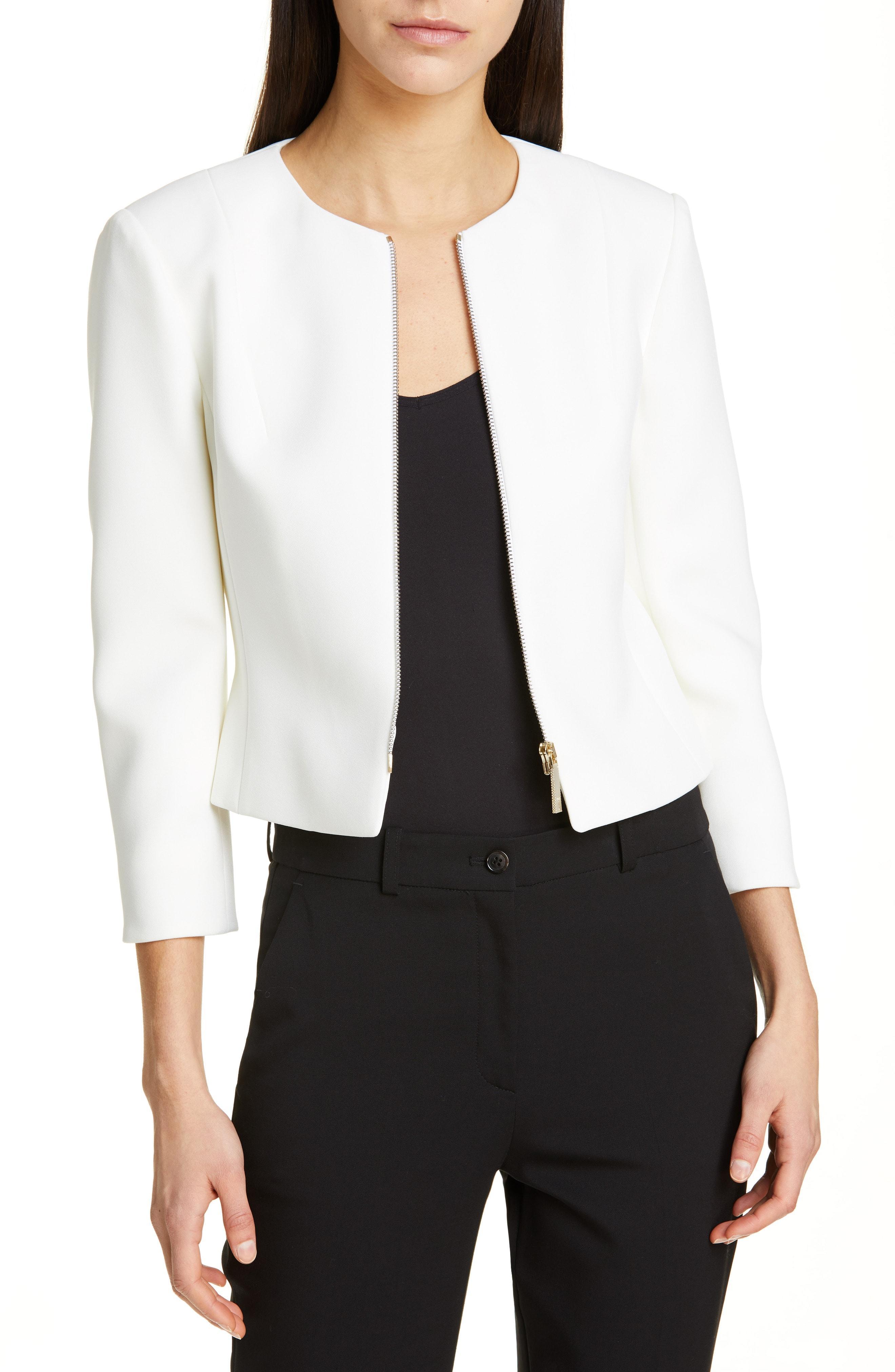 8573cf1dc4b6 Lyst - Ted Baker Eliaana Crop Jacket in White
