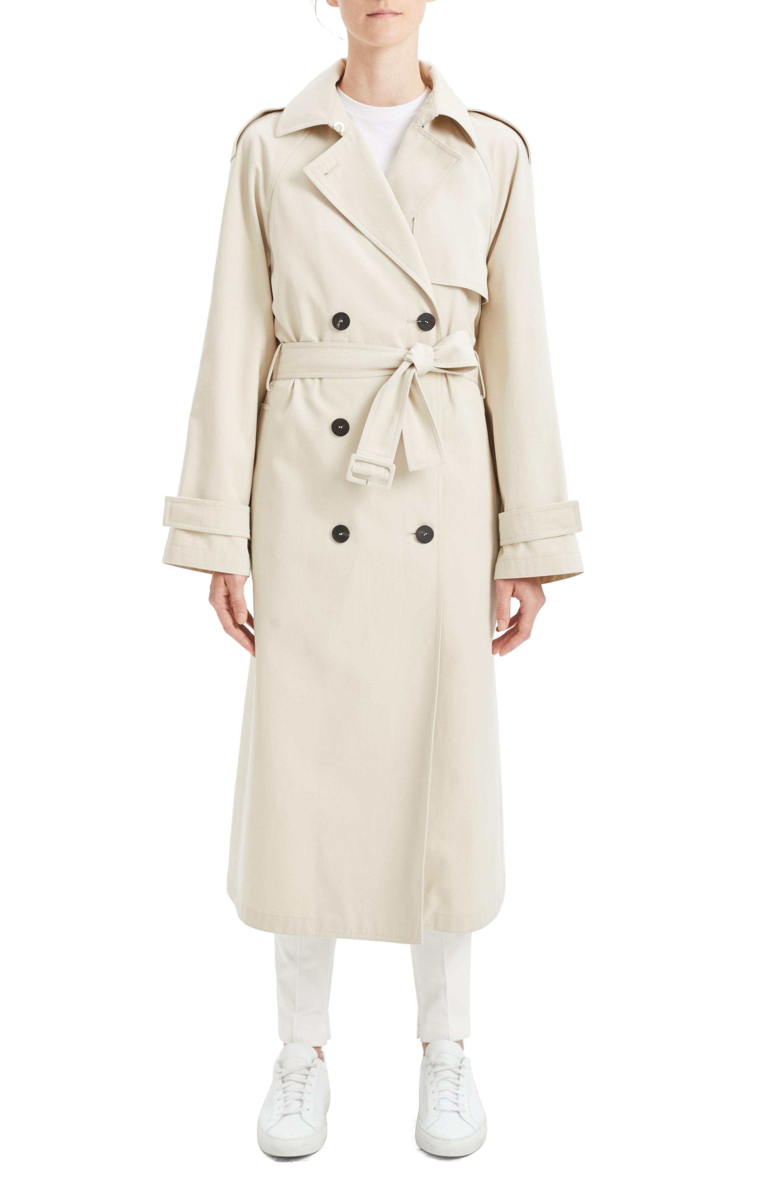 84869d0341 Lyst - Theory Staple Trench Coat in Natural