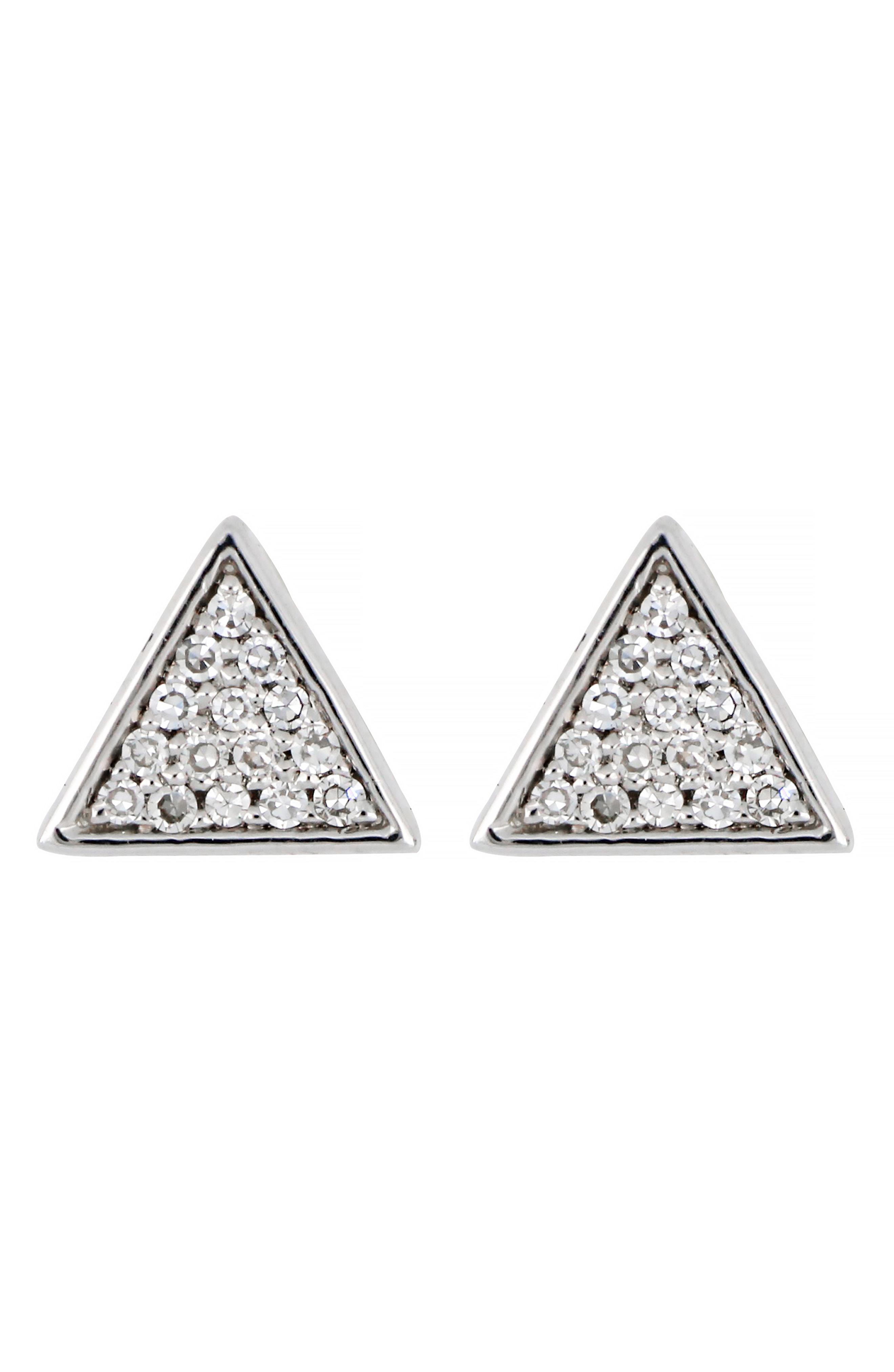 f72fb39fc CARRIERE JEWELRY. Women's Carriere Diamond Pave Medium Triangle Earrings ...