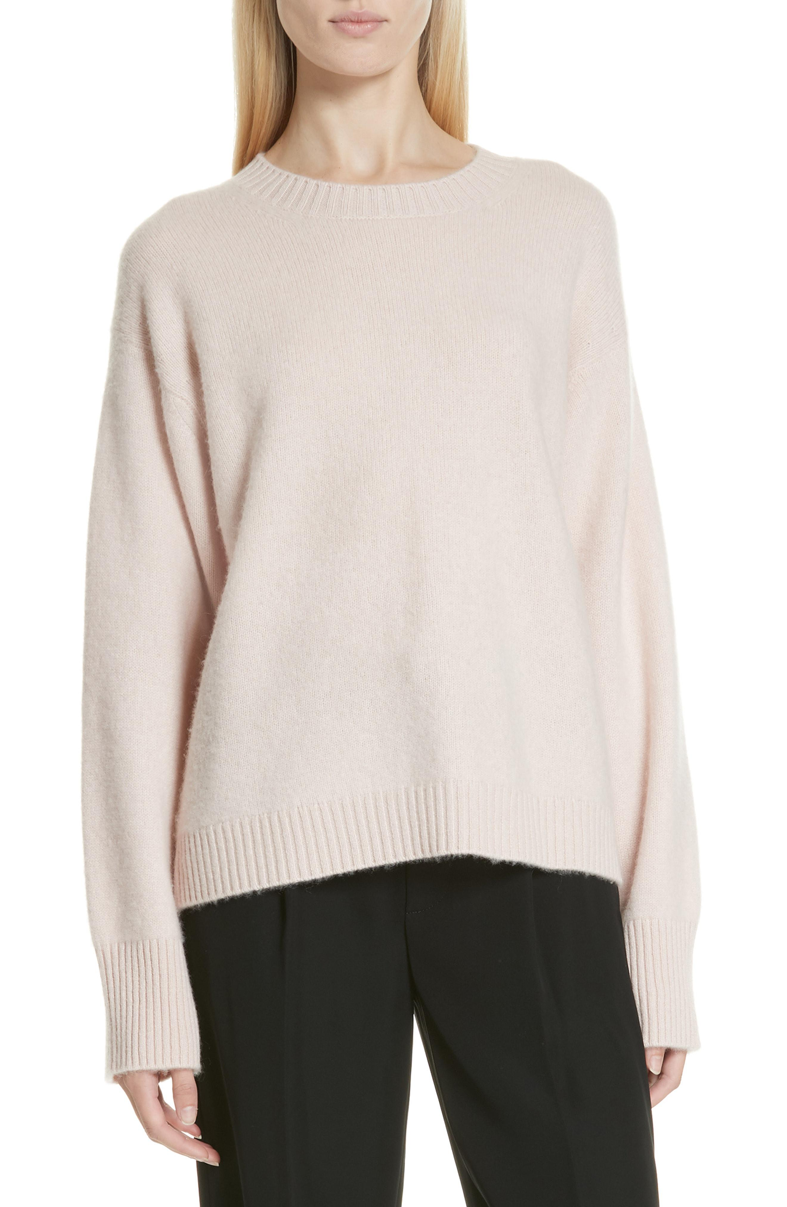 9f5d2b2e8ef Lyst - Vince Boxy Cashmere Sweater in Pink - Save 40%