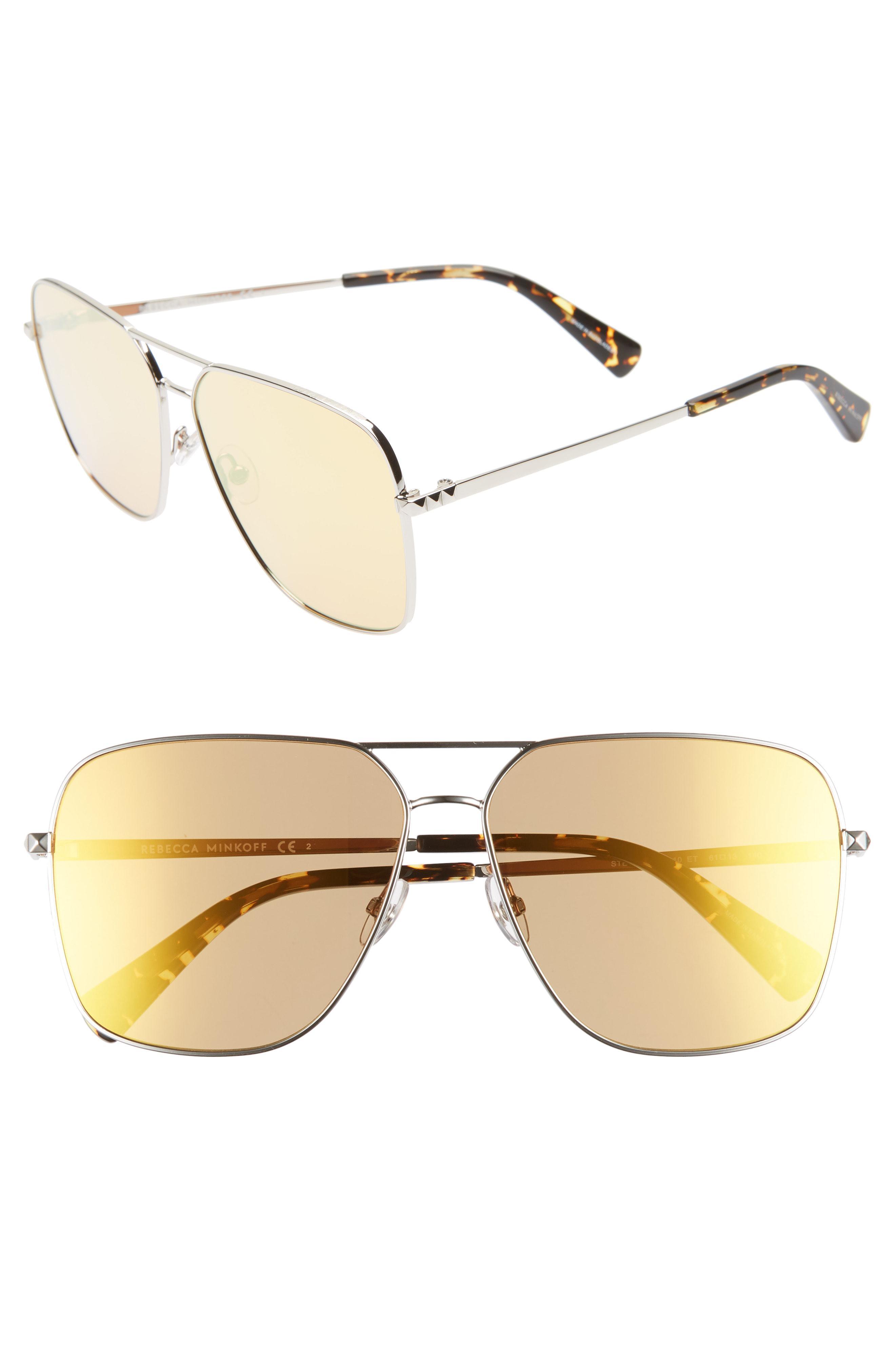 45c392da9923f Lyst - Rebecca Minkoff Stevie3 61mm Aviator Sunglasses - Palladium ...