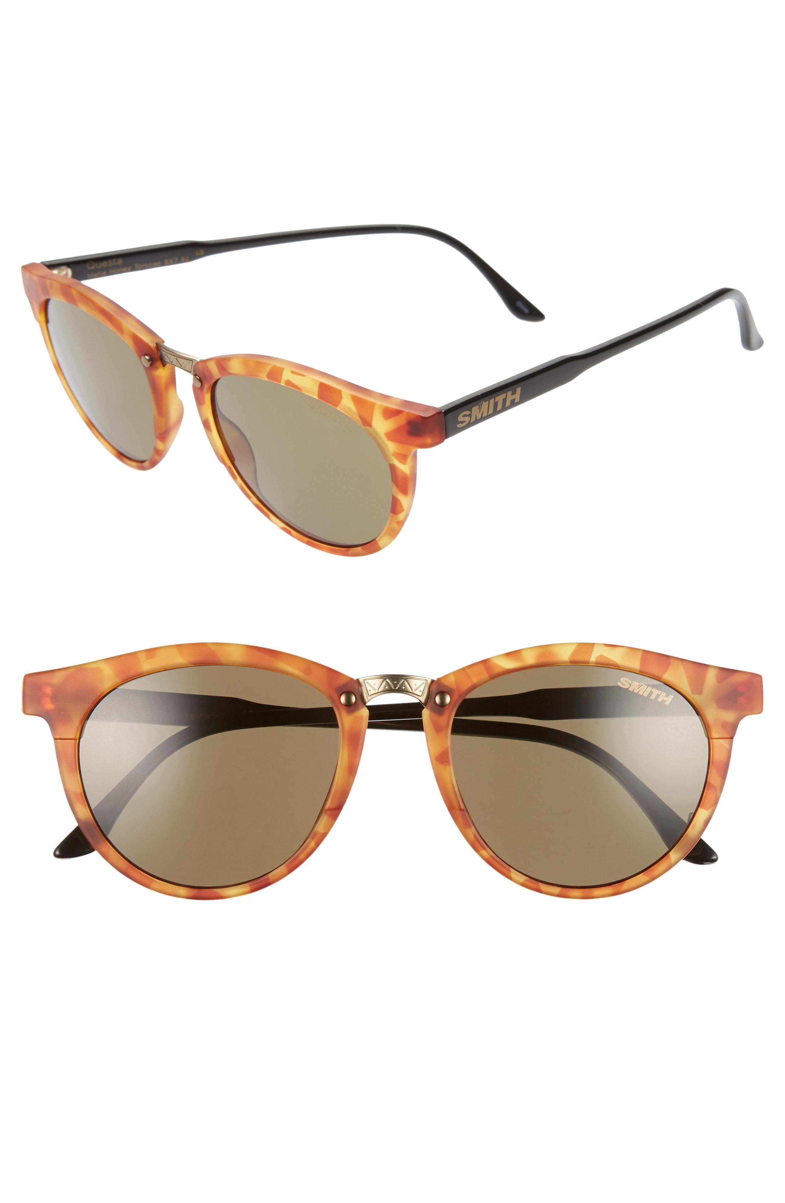 a8c5ae24d4 Smith - Gray Questa 49mm Chromapop Polarized Sunglasses - Honey Tortoise   Grey Green - Lyst. View fullscreen