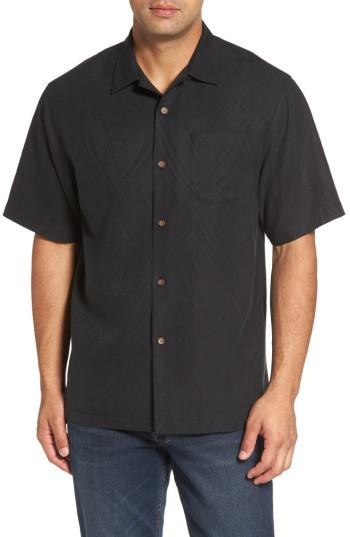 Lyst tommy bahama local watering hole embroidered silk for Tommy bahama embroidered silk camp shirt