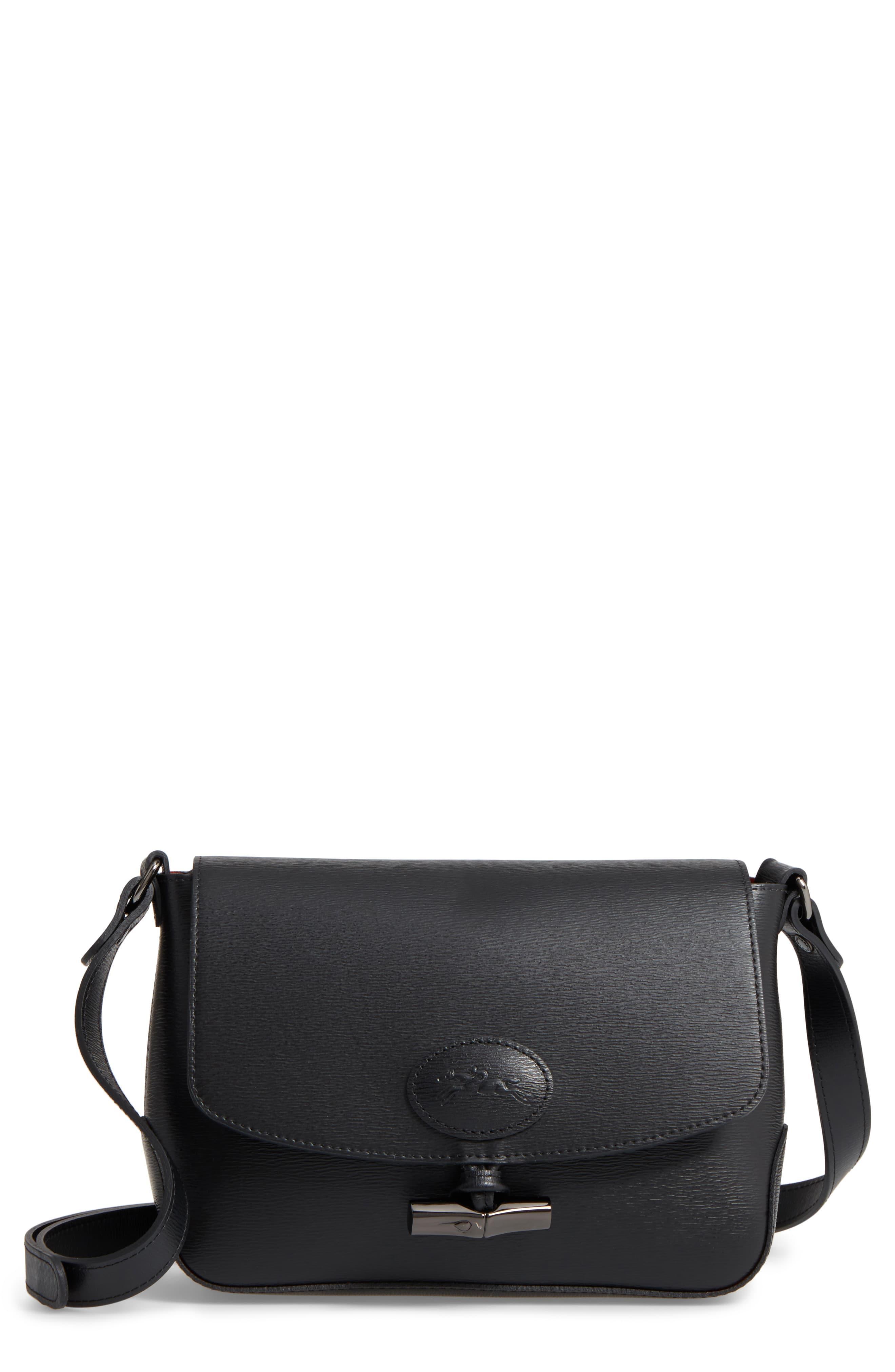 caf899f83 ... Longchamp - Black Roseau Leather Crossbody Bag - Lyst · Visit  Nordstrom. Tap to visit site