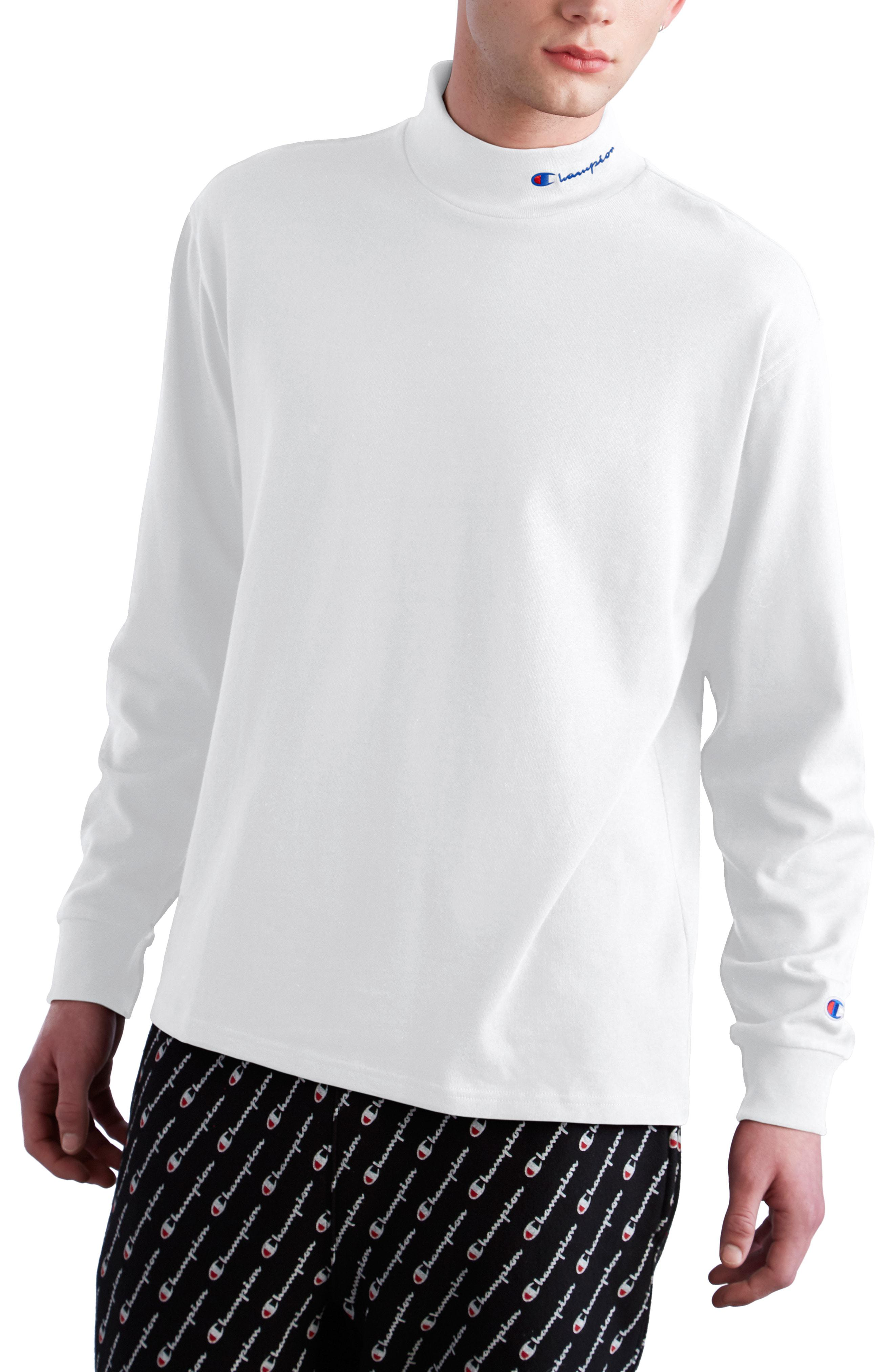 83ae767f2b2 Champion - White Heavyweight Mock Neck T-shirt for Men - Lyst. View  fullscreen