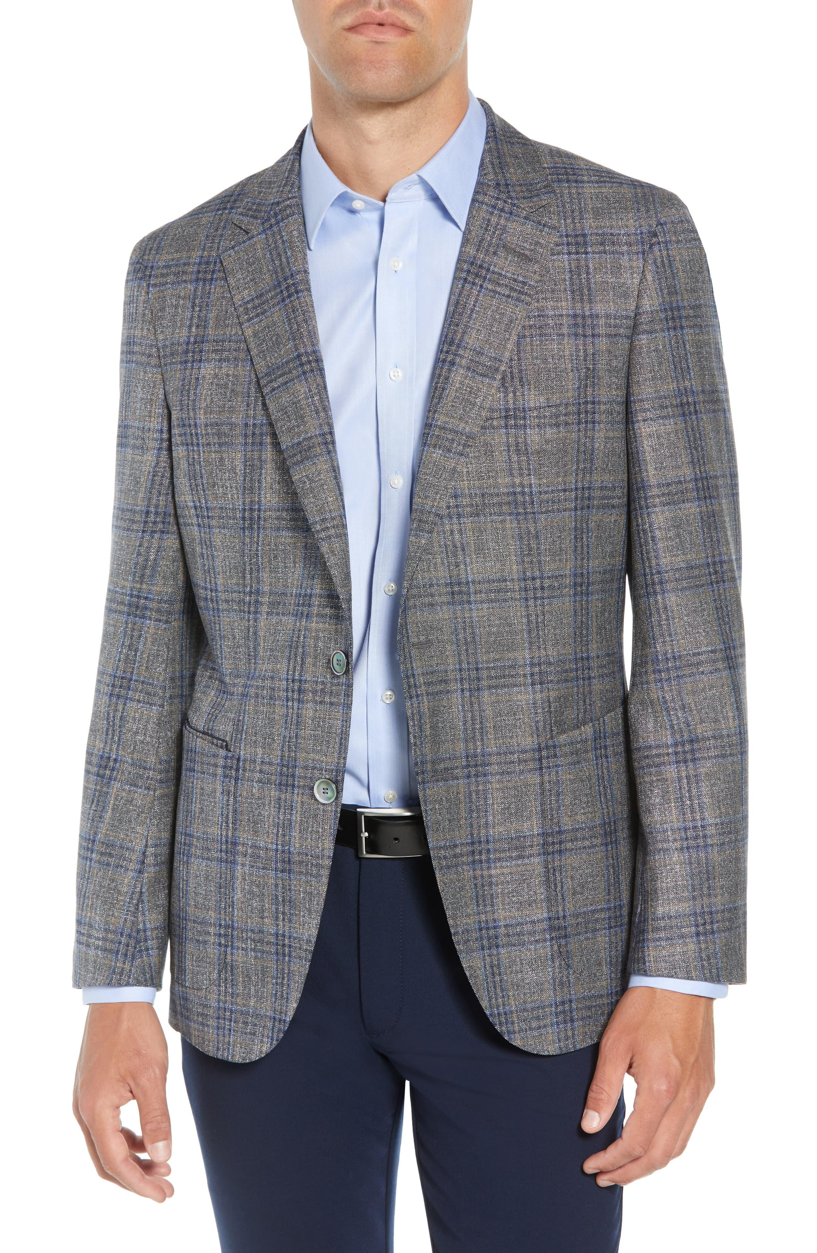 9678ab544 BOSS Heston Slim Fit Plaid Wool Blend Sport Coat in Gray for Men - Lyst