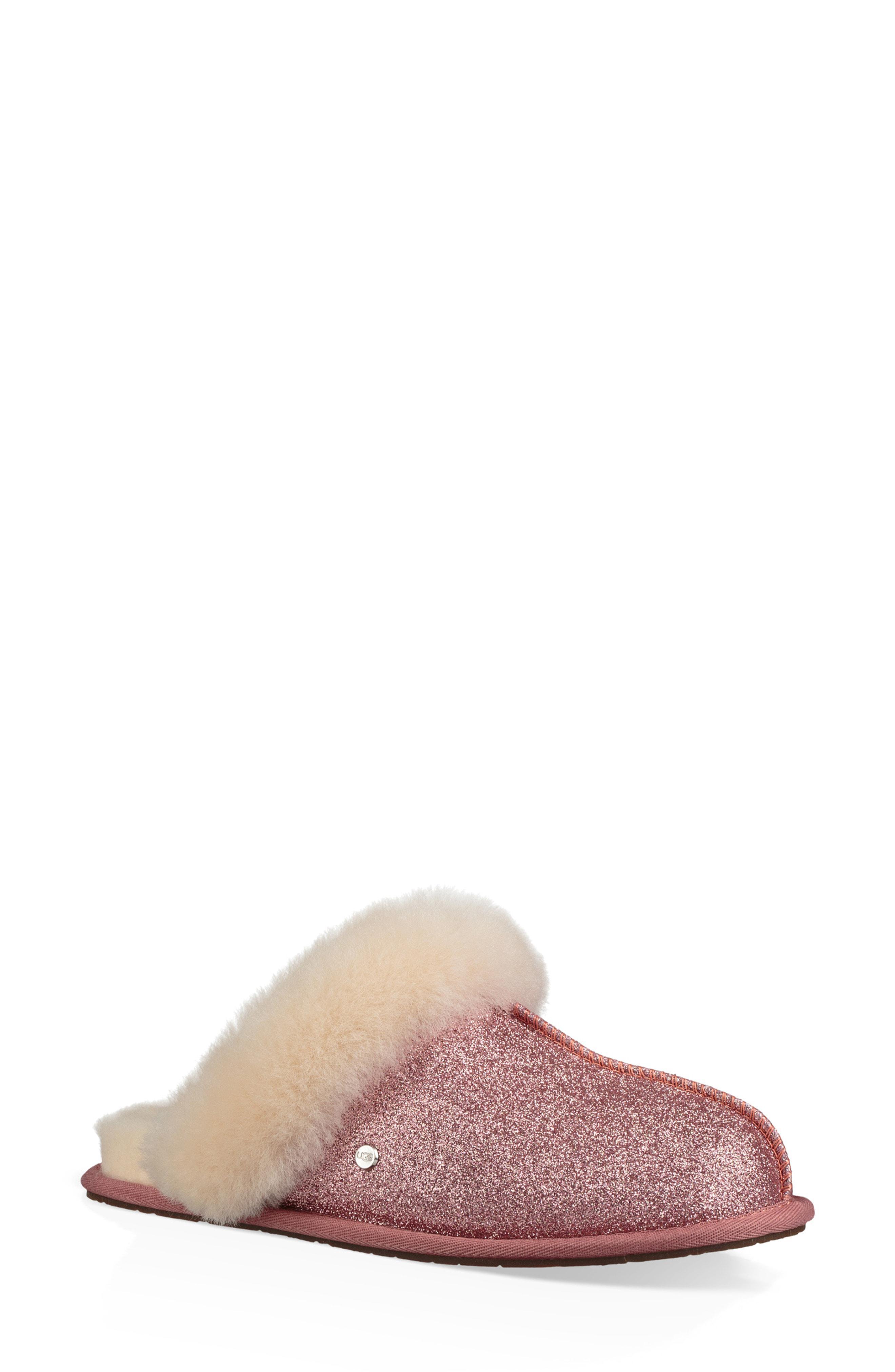 622f05747677 Lyst - UGG Ugg Scuffette Ii Sparkle Genuine Shearling Slipper in Pink
