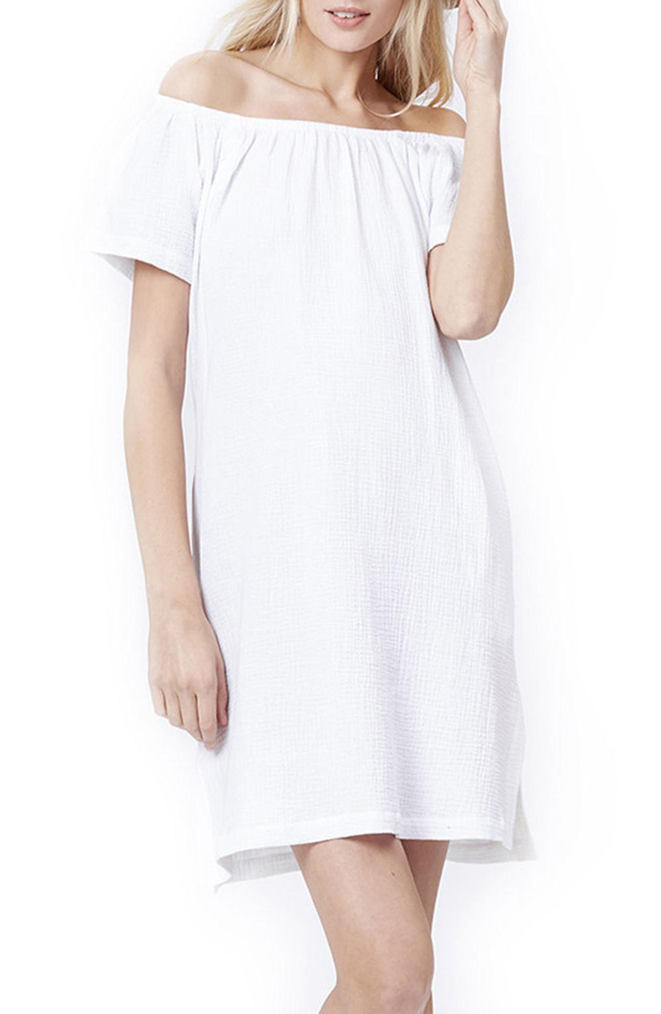 6642ce3378 Lyst - Loyal Hana Arie Off The Shoulder Maternity nursing Dress in White