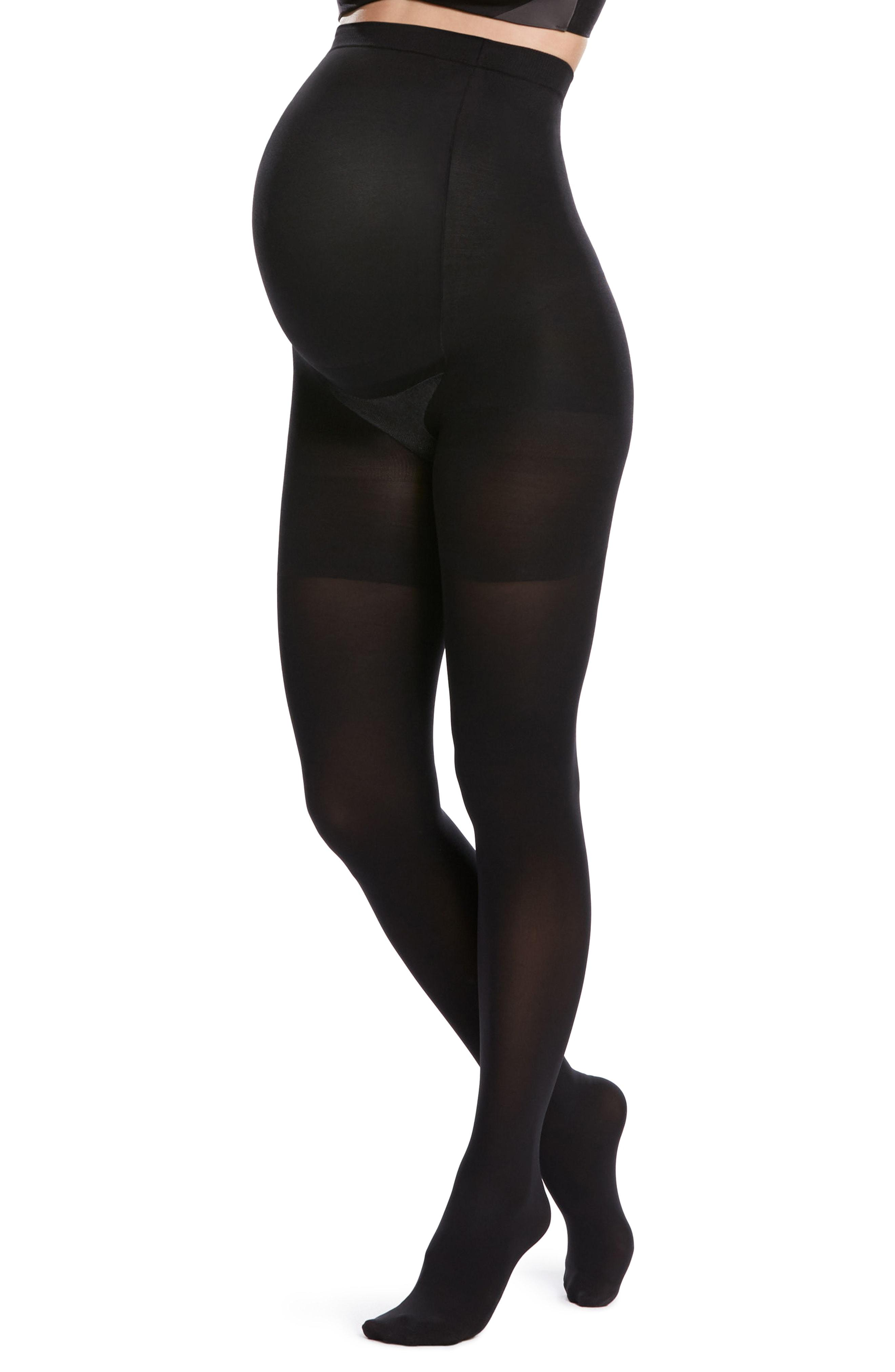 bc4e06bf56b Lyst - Spanx Spanx Mama Mid-thigh Shaping Tights in Black