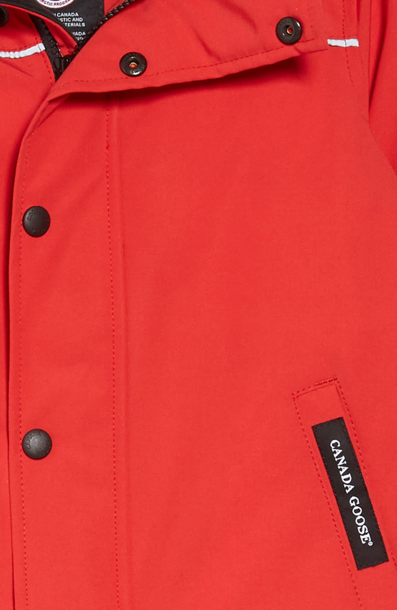 24ae24cf3 Canada Goose - Red Baby Grizzly Snowsuit With Genuine Coyote Fur Trim -  Lyst. View fullscreen