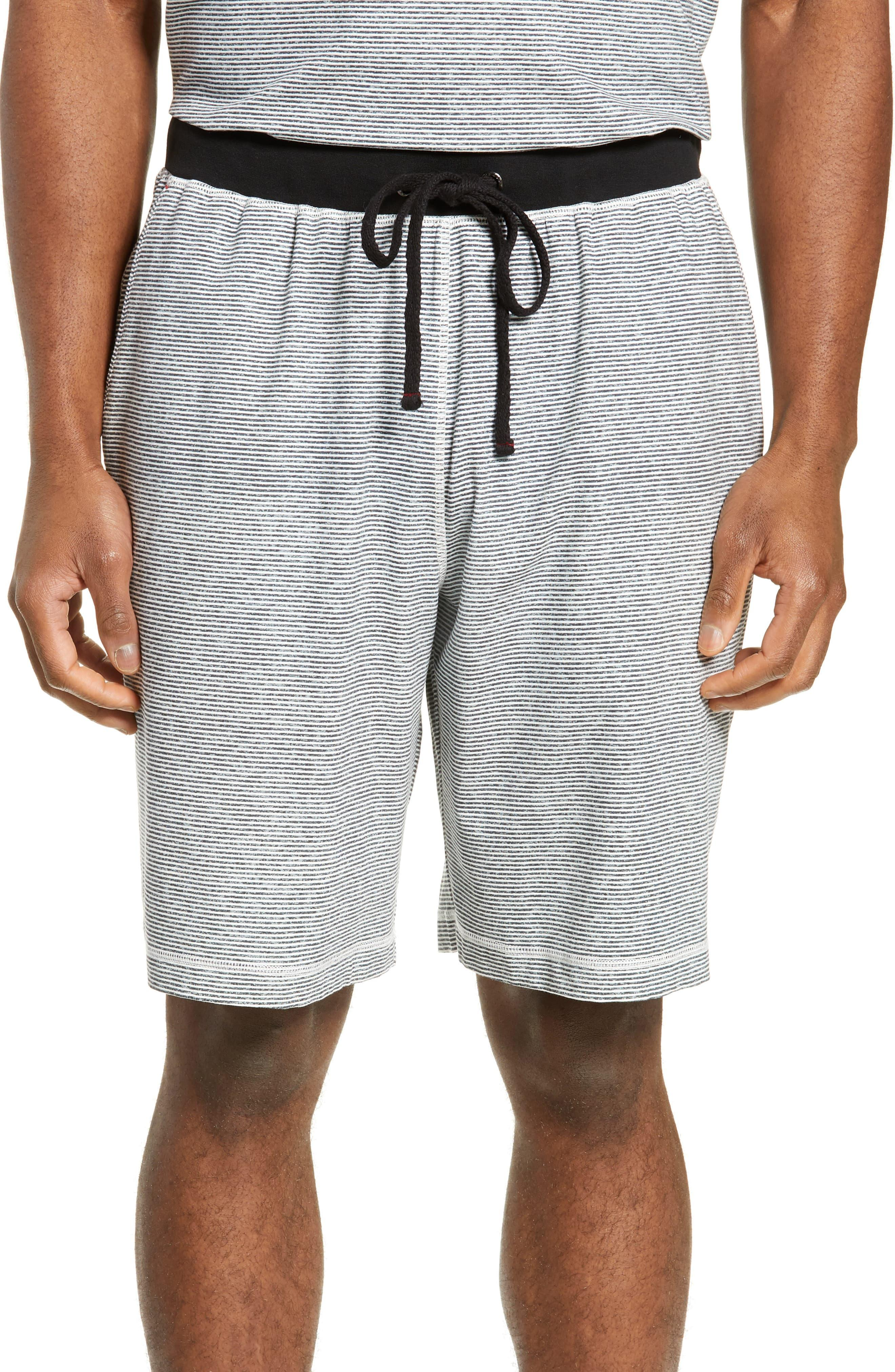 Daniel Buchler Stretch Cotton Amp Modal Shorts In Black For