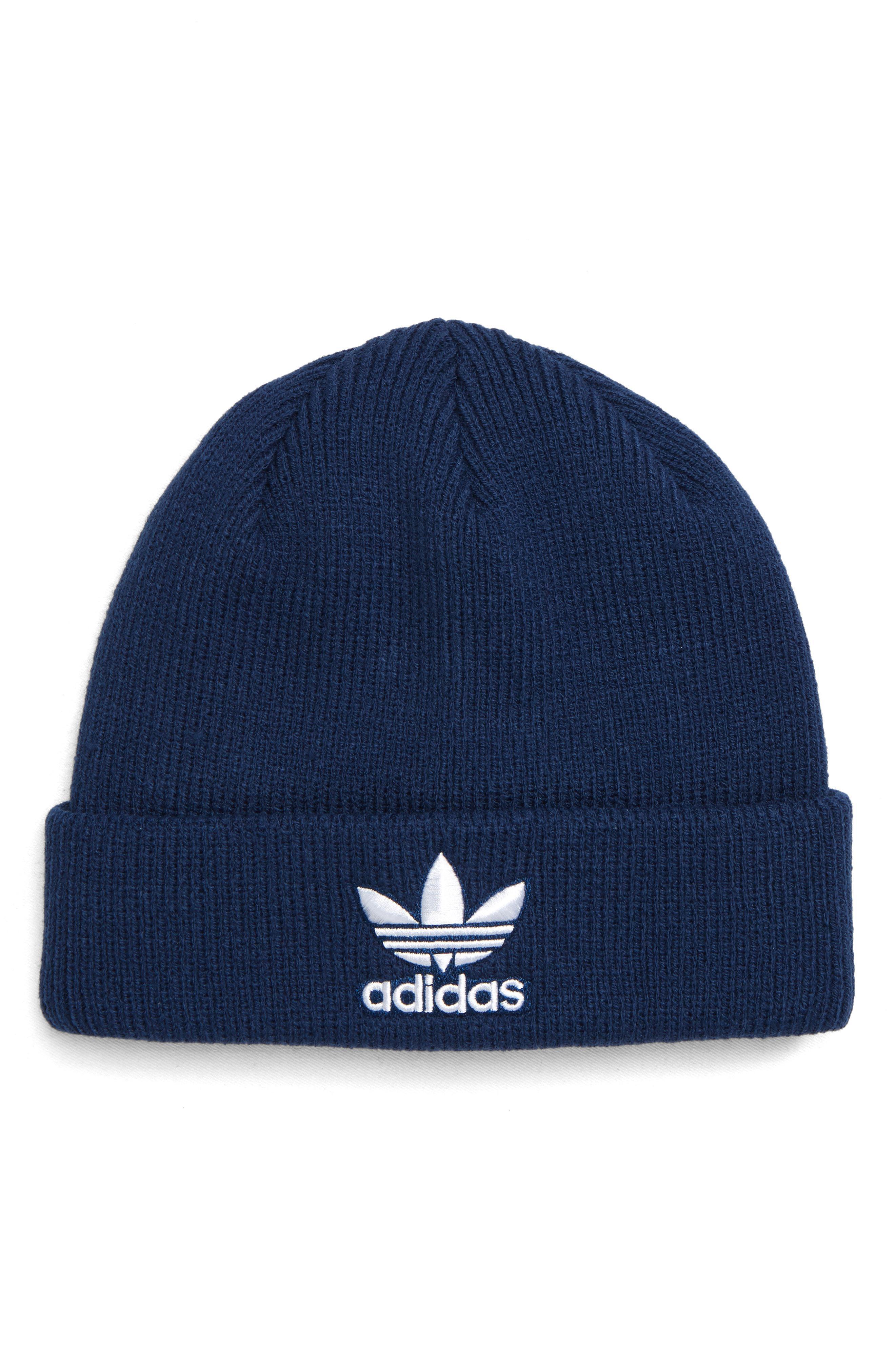 a6901e1025d75 Lyst - Adidas Originals Trefoil Beanie - in Blue for Men