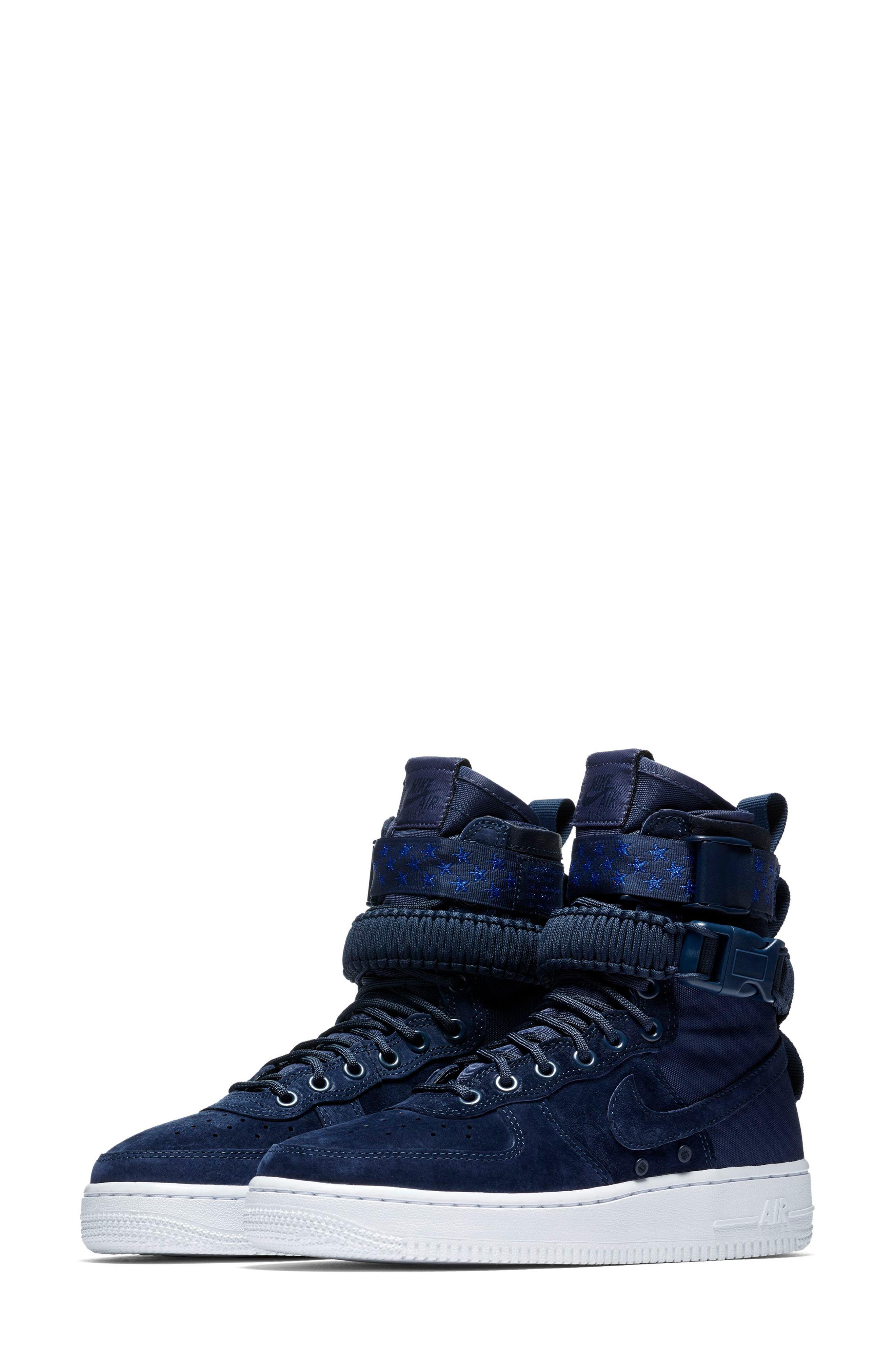 Lyst - Nike Sf Air Force 1 High Top Sneaker in Blue 749c3c057