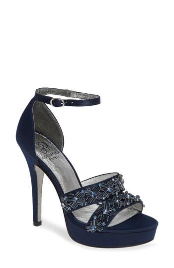 7f4a2d026b5 Lyst - Adrianna Papell Marietta Platform Ankle Strap Sandal in Metallic