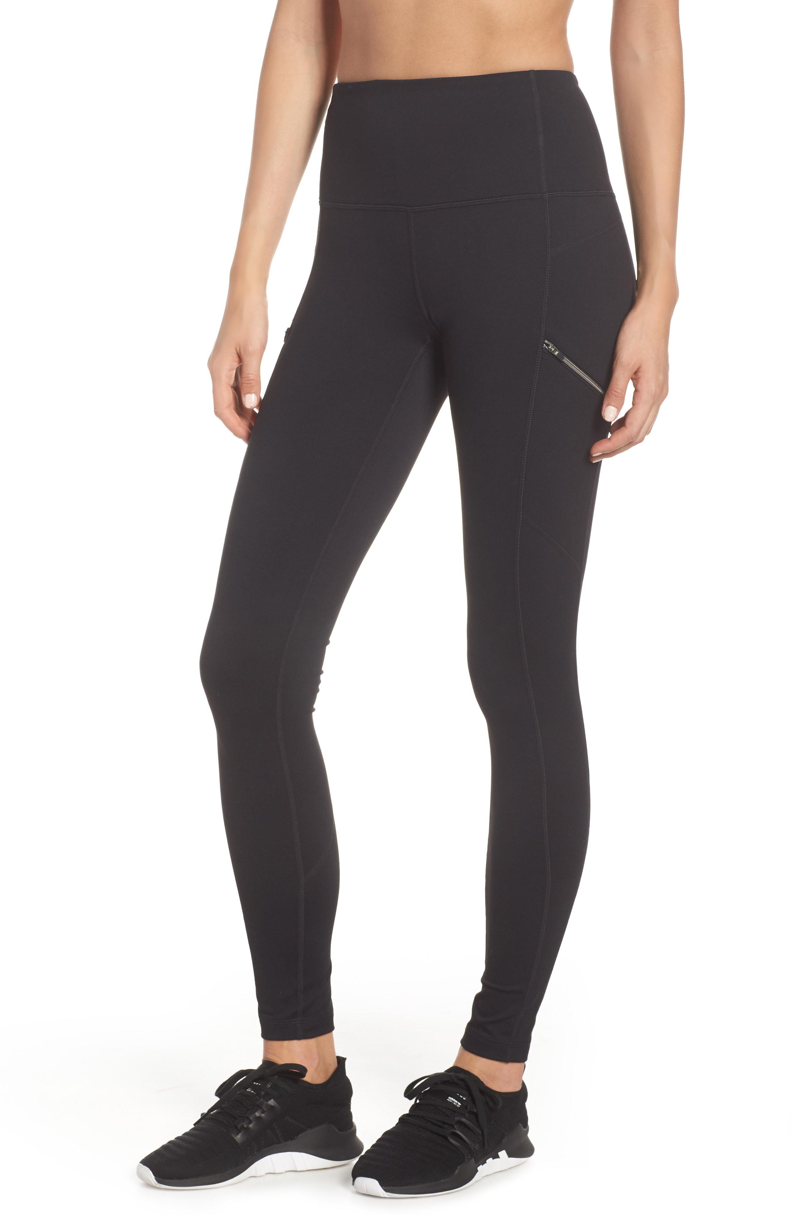 ffdb55db544ed Lyst - Zella Urban Achiever High Waist Leggings in Black