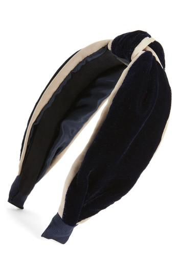Lyst - Tasha Velvet Knot Headband in Blue 91878079000