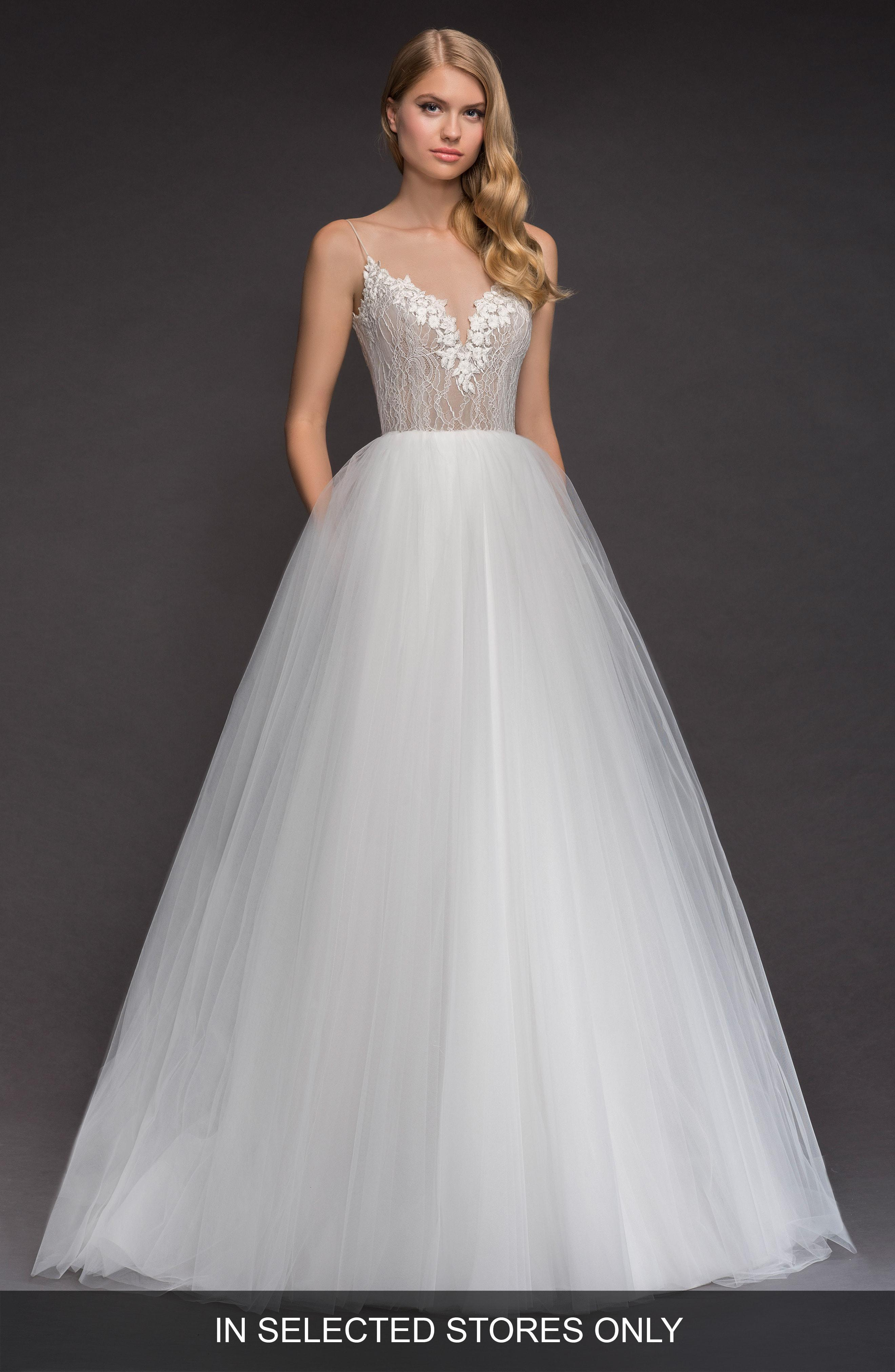 ba951e35d Lyst - BLUSH BY HAYLEY PAIGE Brier Lace & Tulle Ballgown in Gray