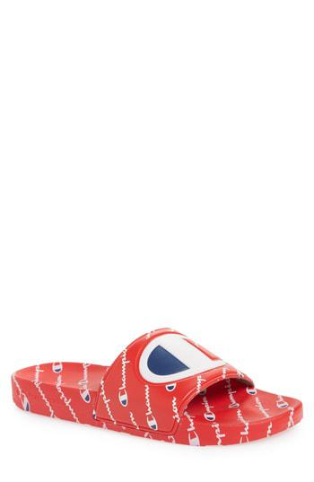 feb499b658c Lyst - Champion Ipo Repeat Sports Slide in Red for Men