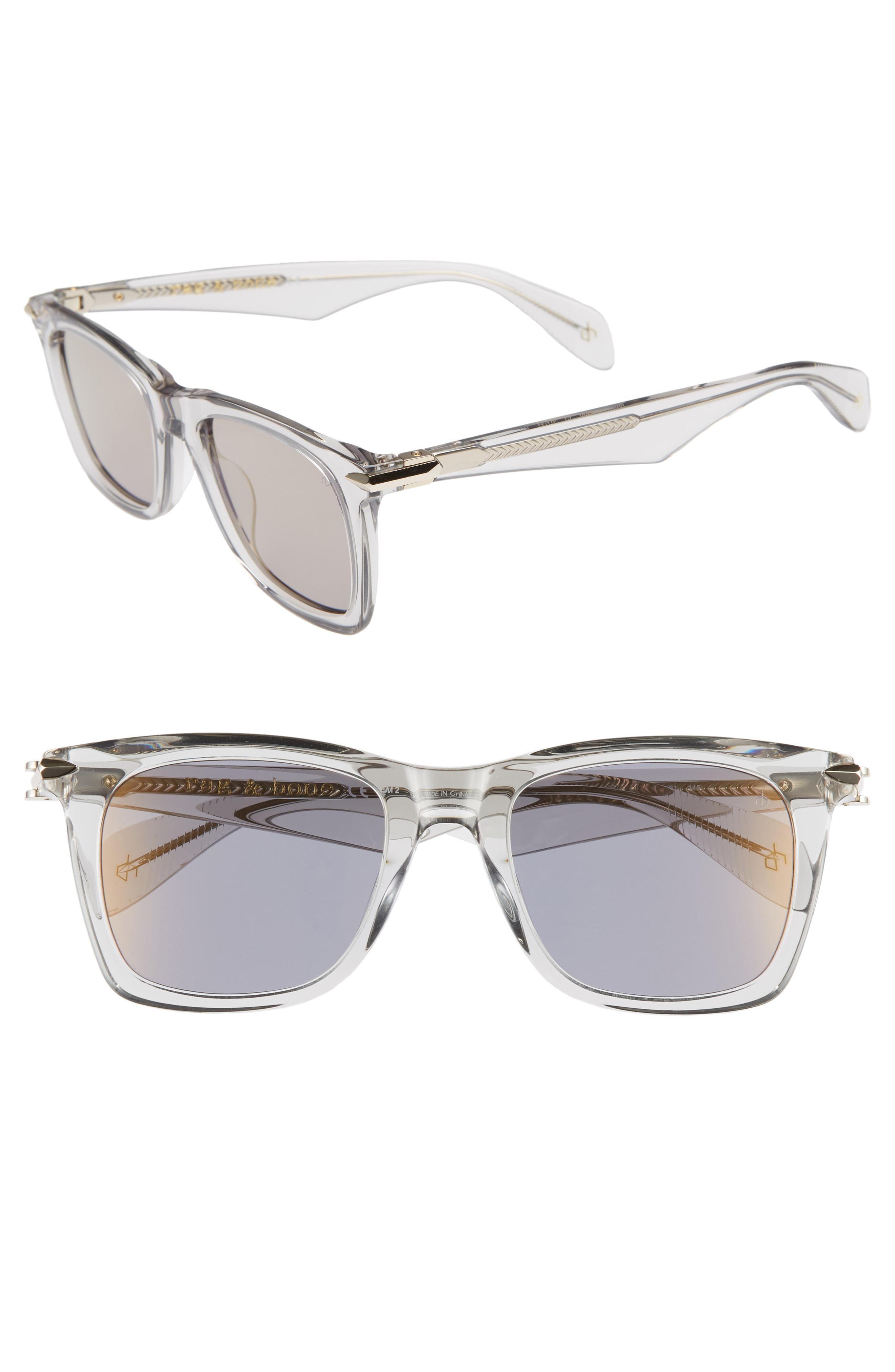 c00a90c06080 Lyst - Rag   Bone Core 51mm Square Sunglasses -