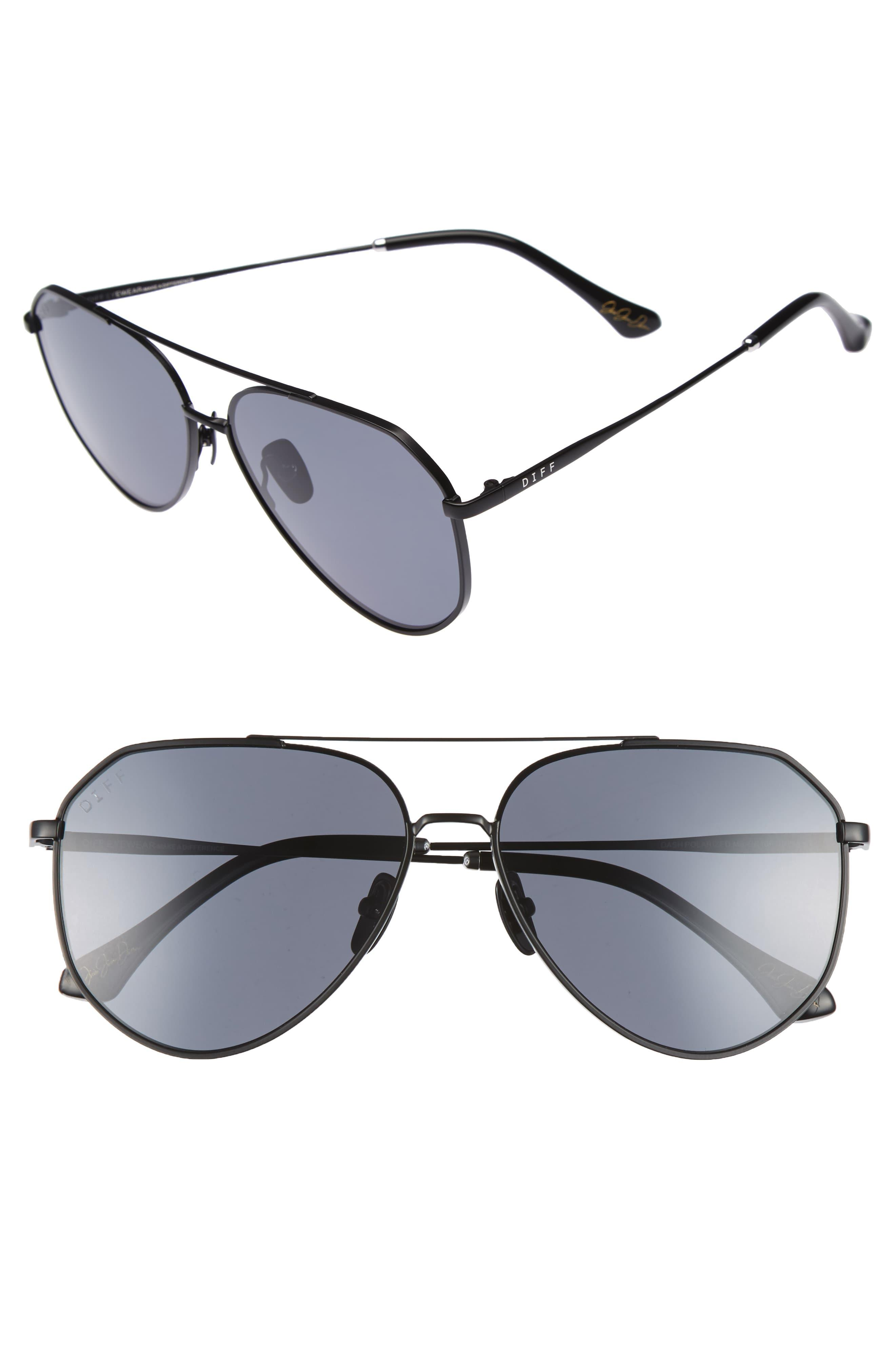 678332a8be6c DIFF X Jessie James Decker Dash 61mm Polarized Aviator Sunglasses ...