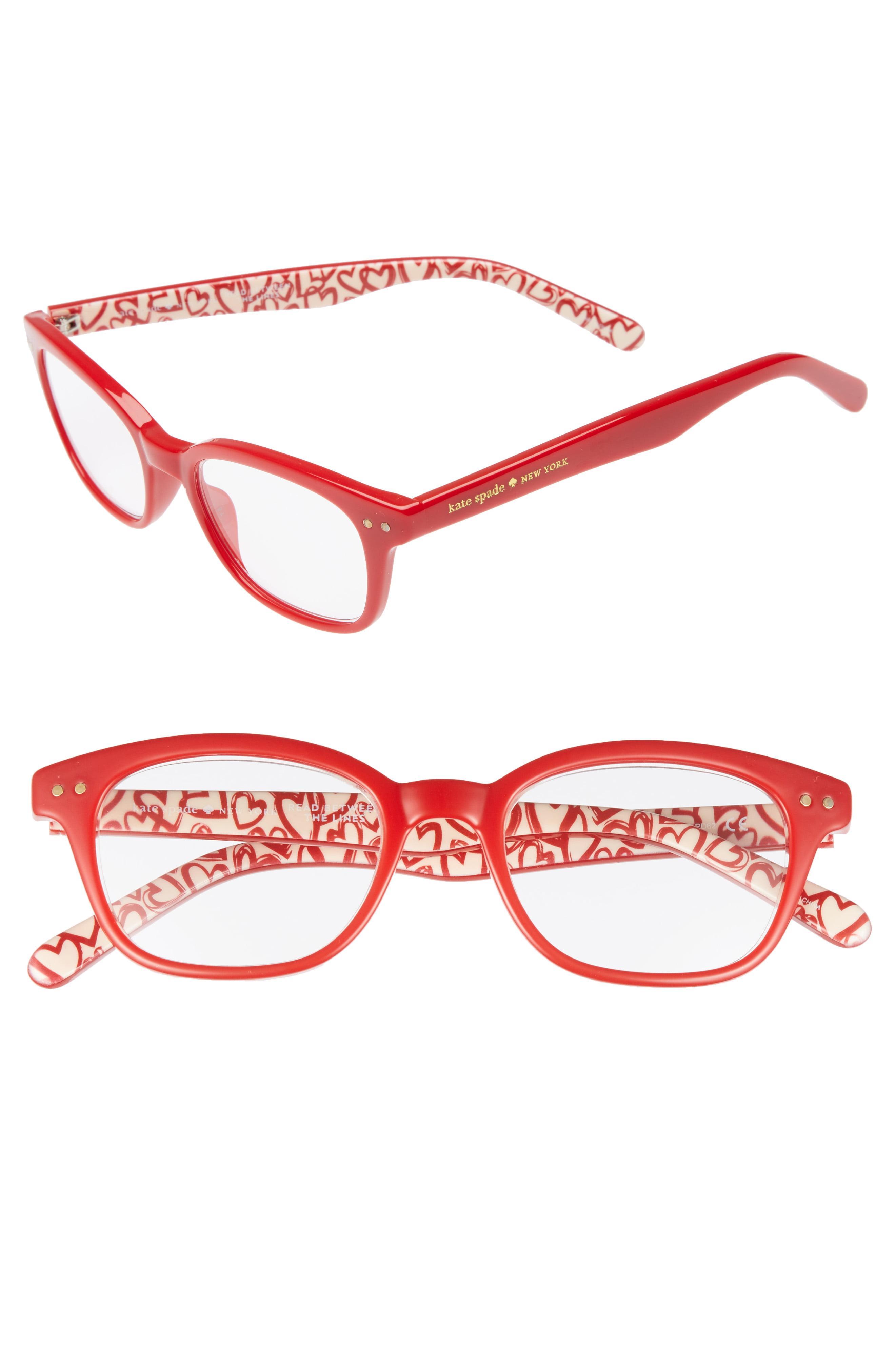 65d103a487e Lyst - Kate Spade Rebecca 47mm Reading Glasses in Red