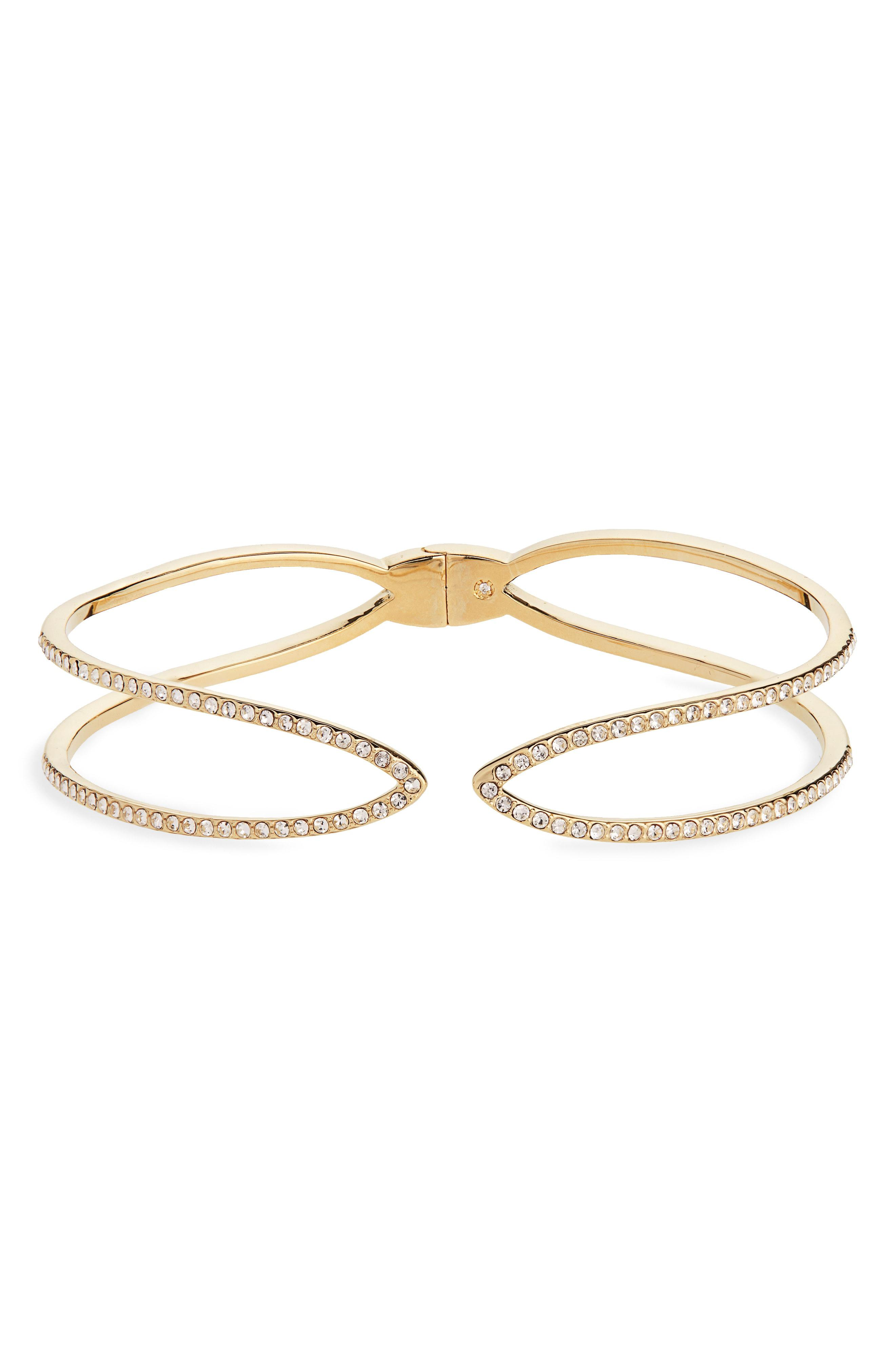 798500d54 Lyst - Nordstrom Double Row Pave Cuff in Metallic