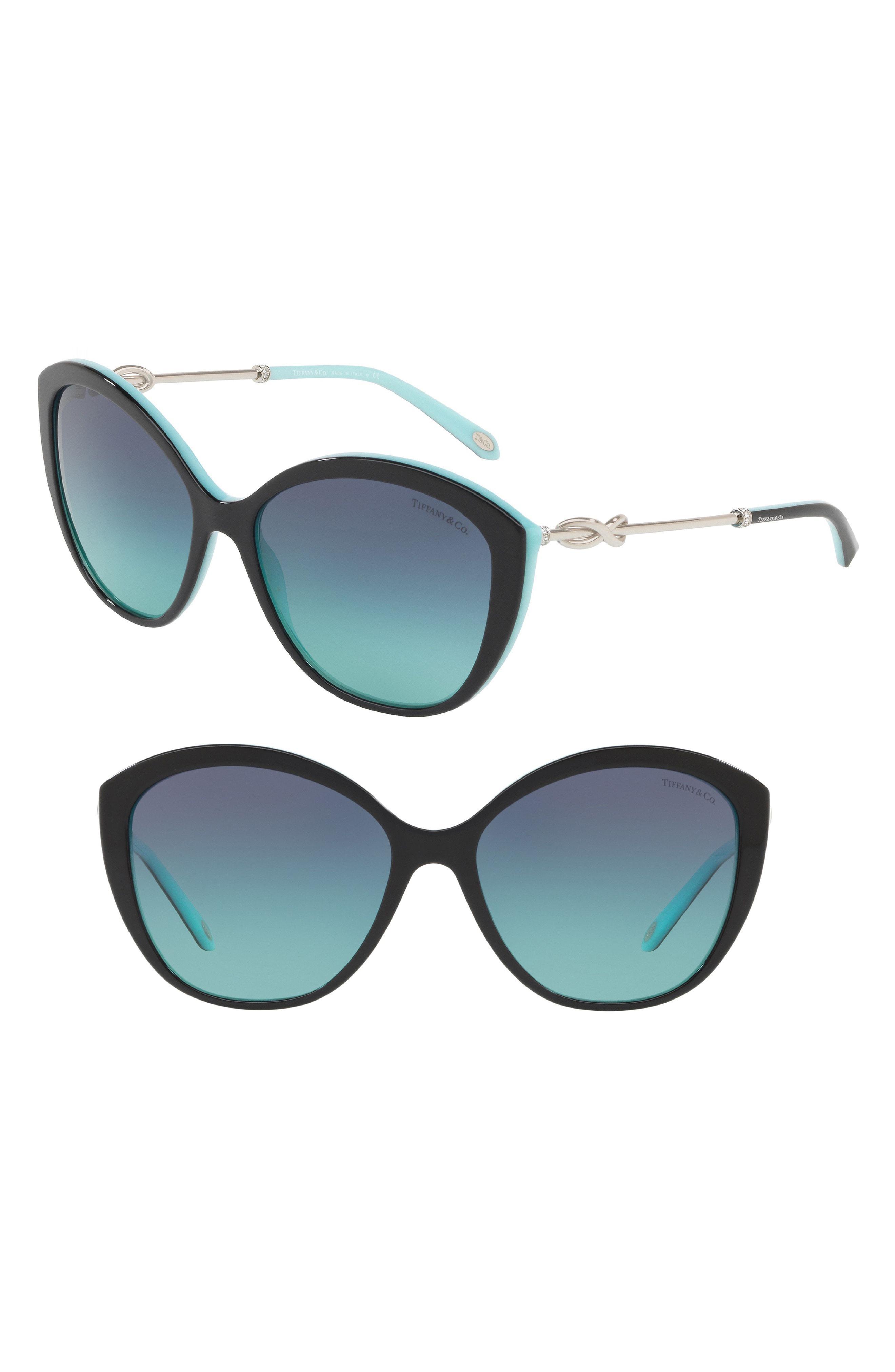 50120afb7d Lyst - Tiffany   Co. Tiffany 57mm Cat Eye Sunglasses in Blue