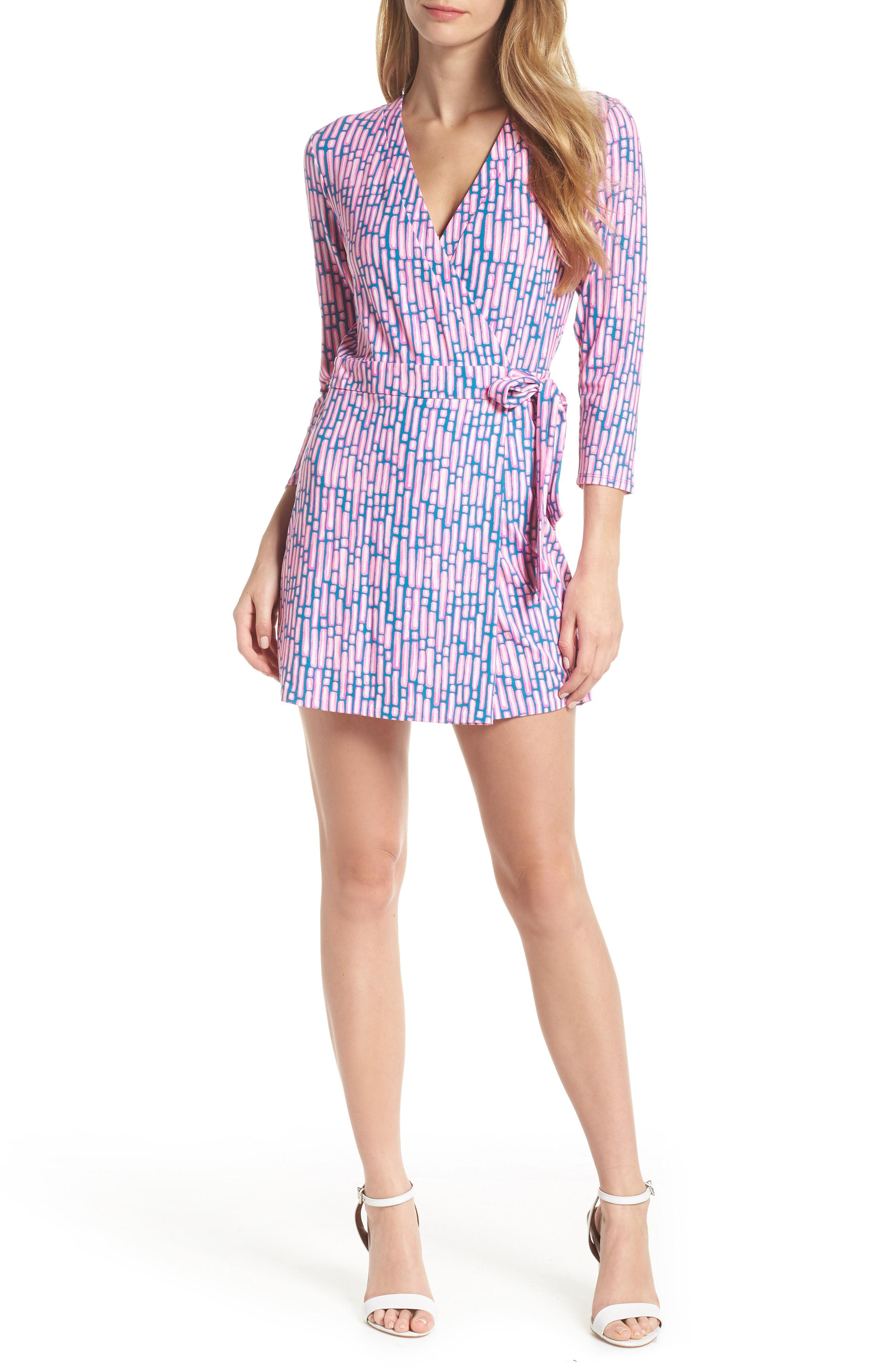 42c0002fea43 Lyst - Lilly Pulitzer Lilly Pulitzer Karlie Wrap Romper in Blue