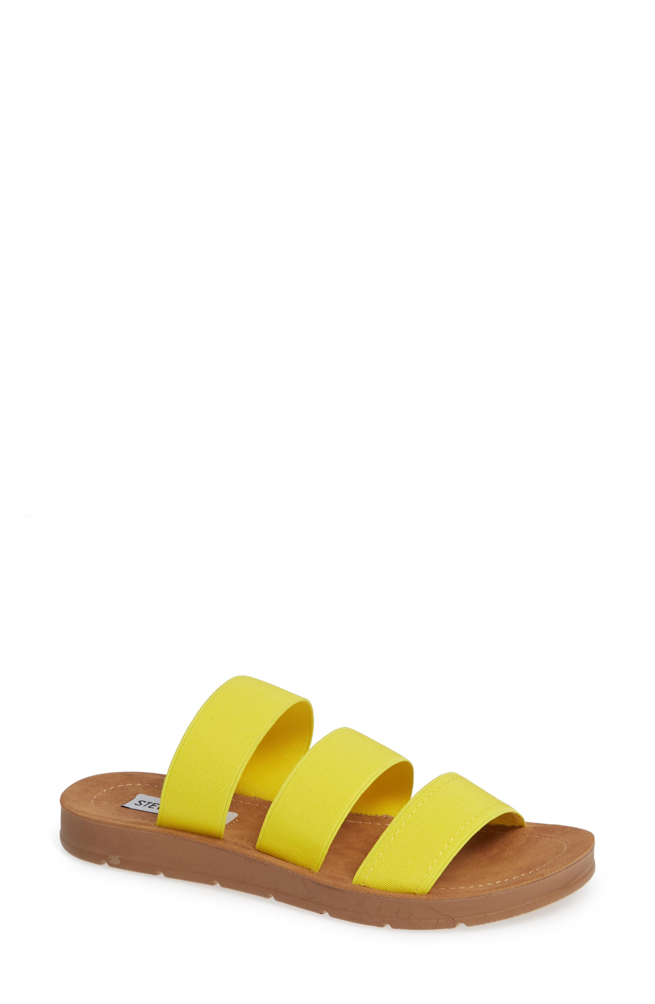 71c25f30fce Lyst - Steve Madden Pascale Slide Sandal in Yellow