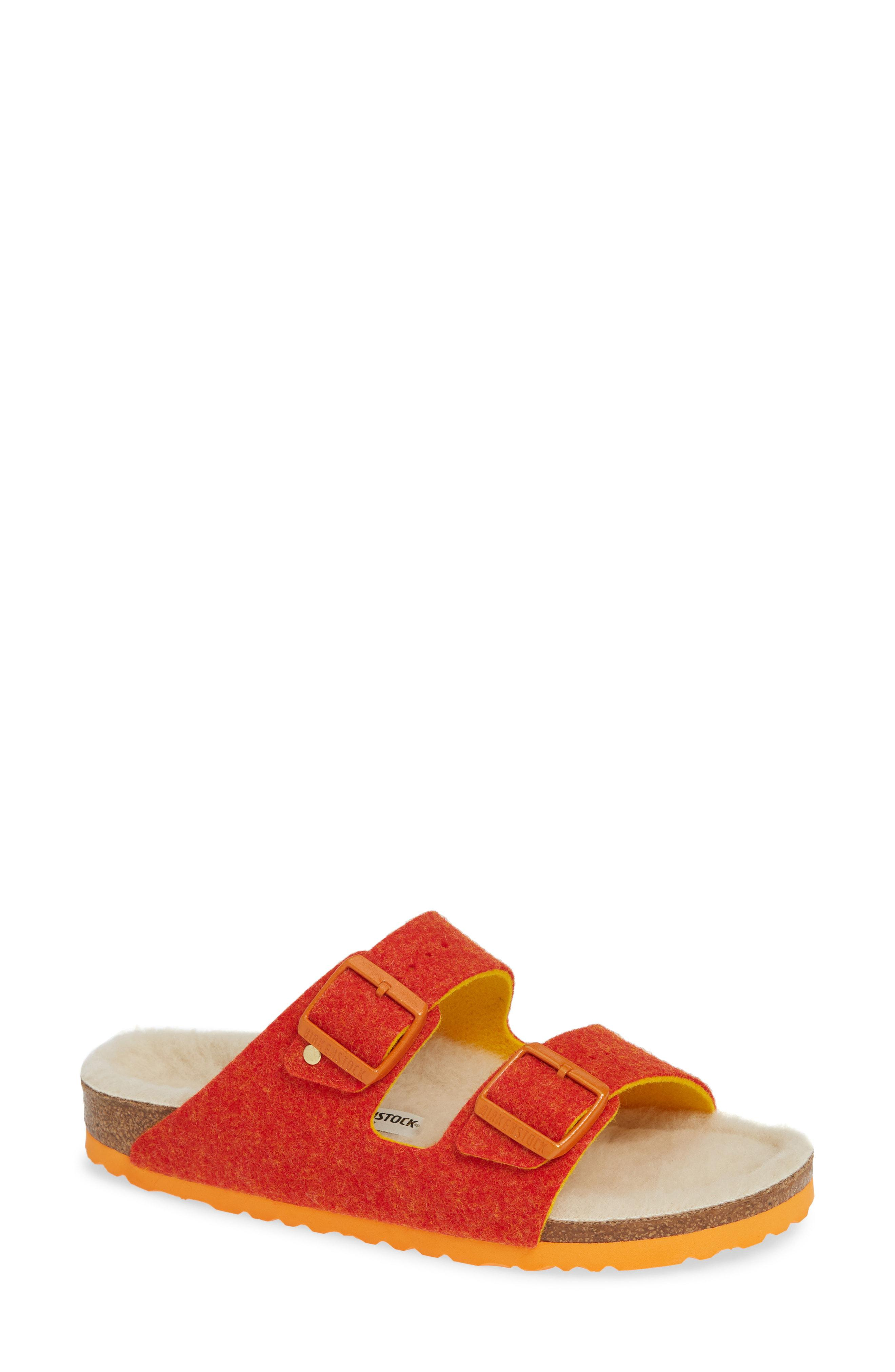e22df1b6d804d6 Lyst - Birkenstock Arizona Happy Slide Sandal in Orange