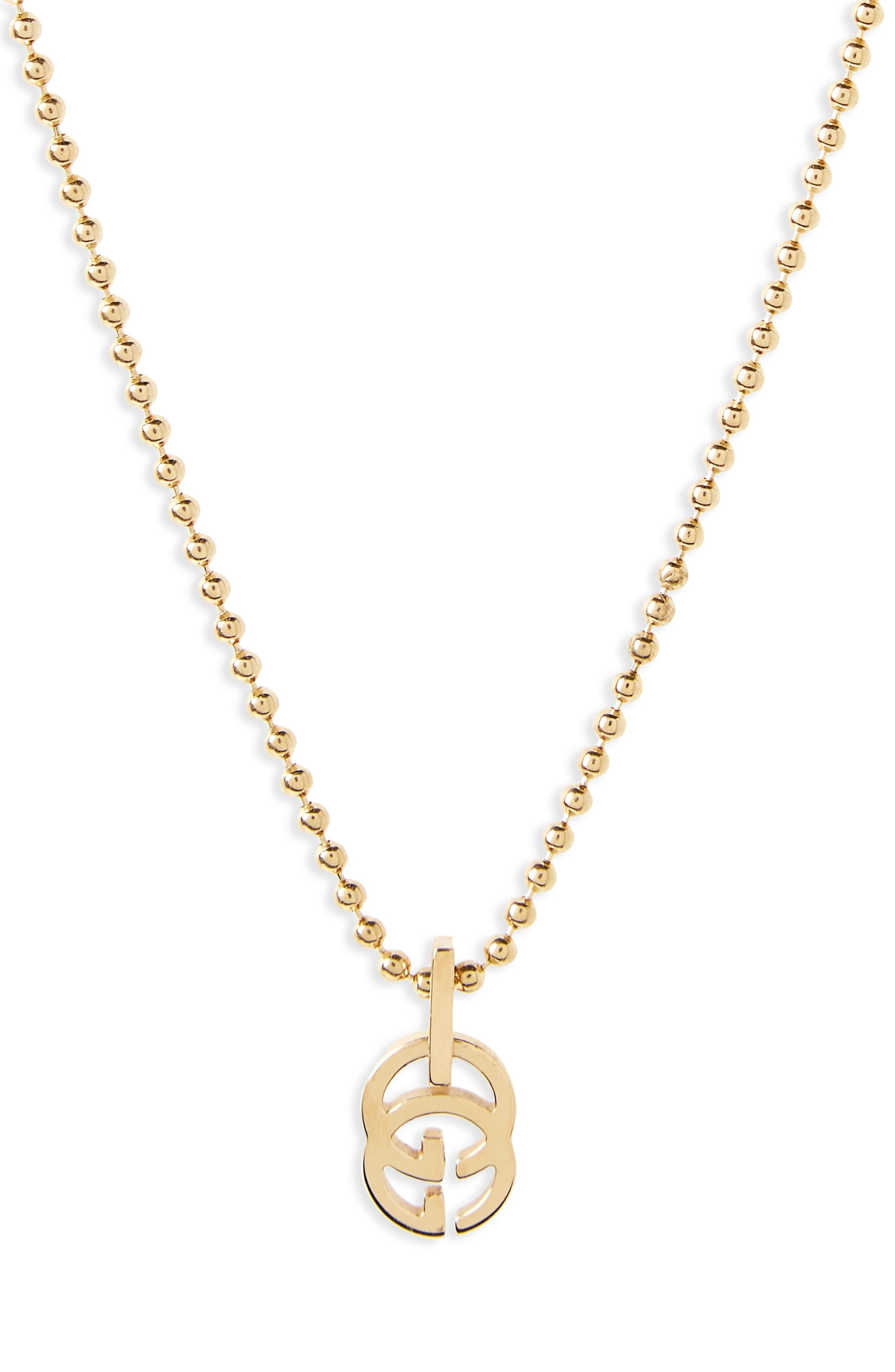 185132a35b Gucci Double-g Pendant Necklace in Metallic - Lyst