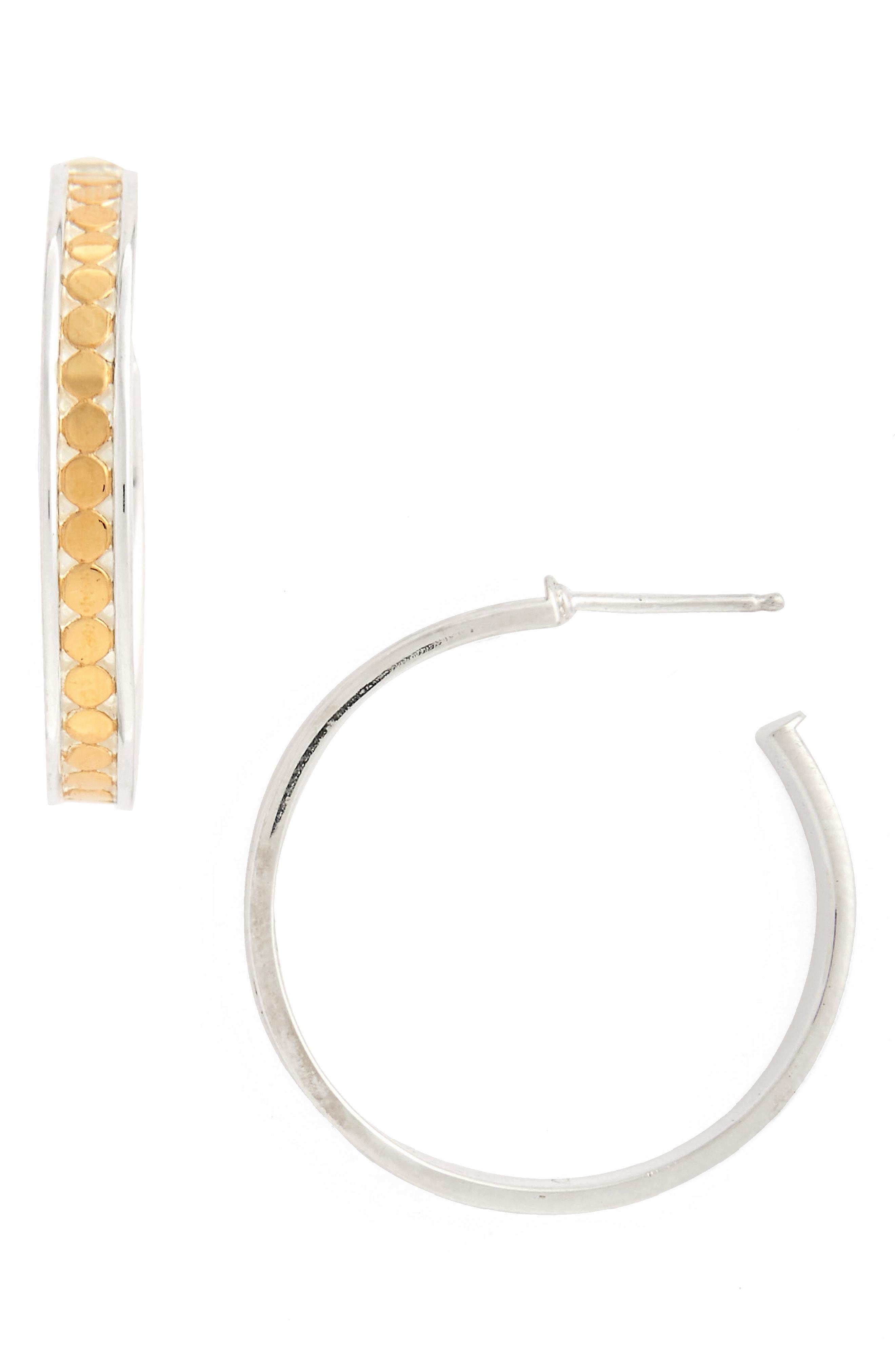 e5929db4a Lyst - Anna Beck Medium Hoop Stud Earrings in Metallic