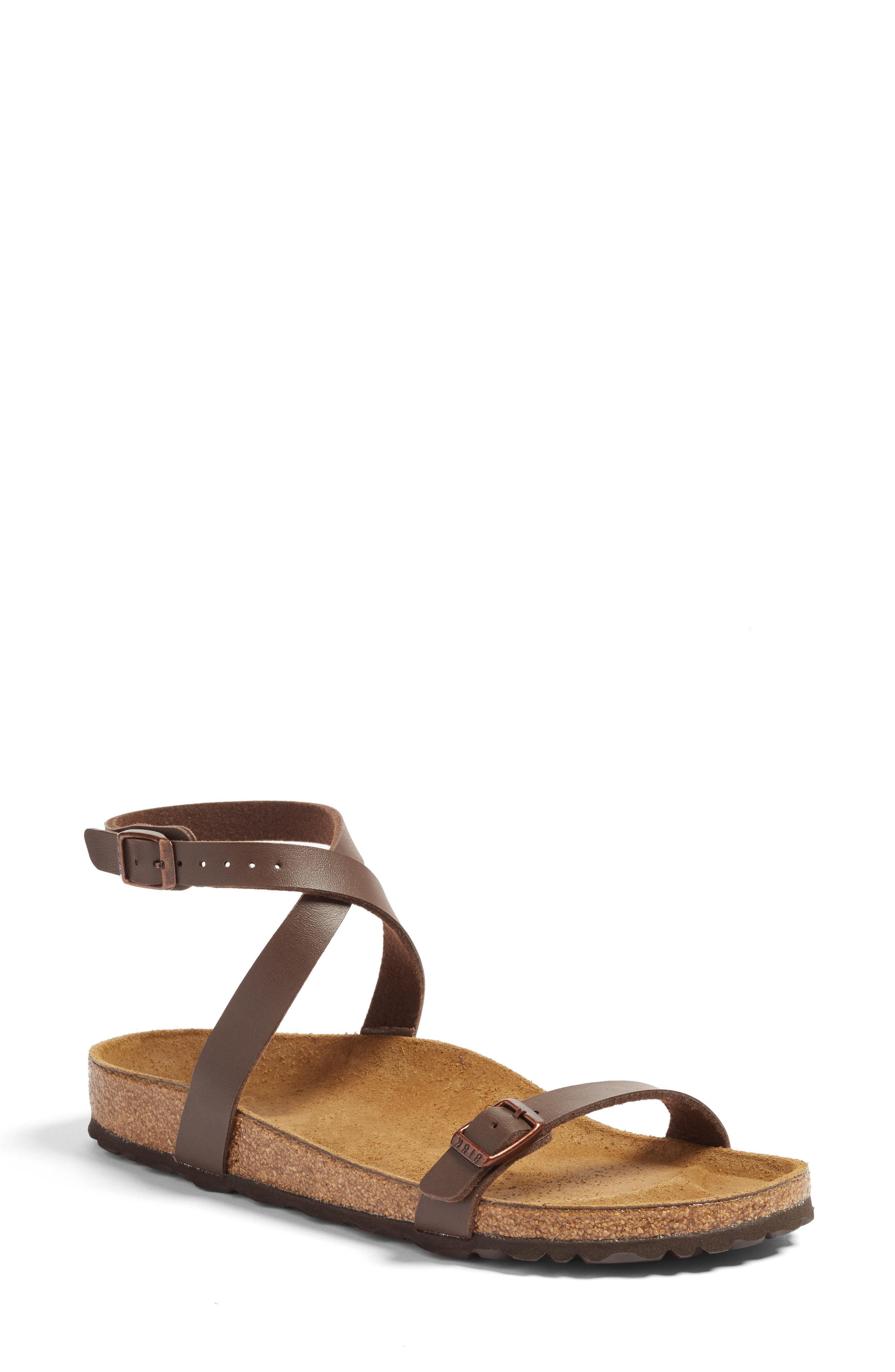 a7e2b687bf5bc Lyst - Birkenstock Daloa Ankle Strap Sandal in Brown