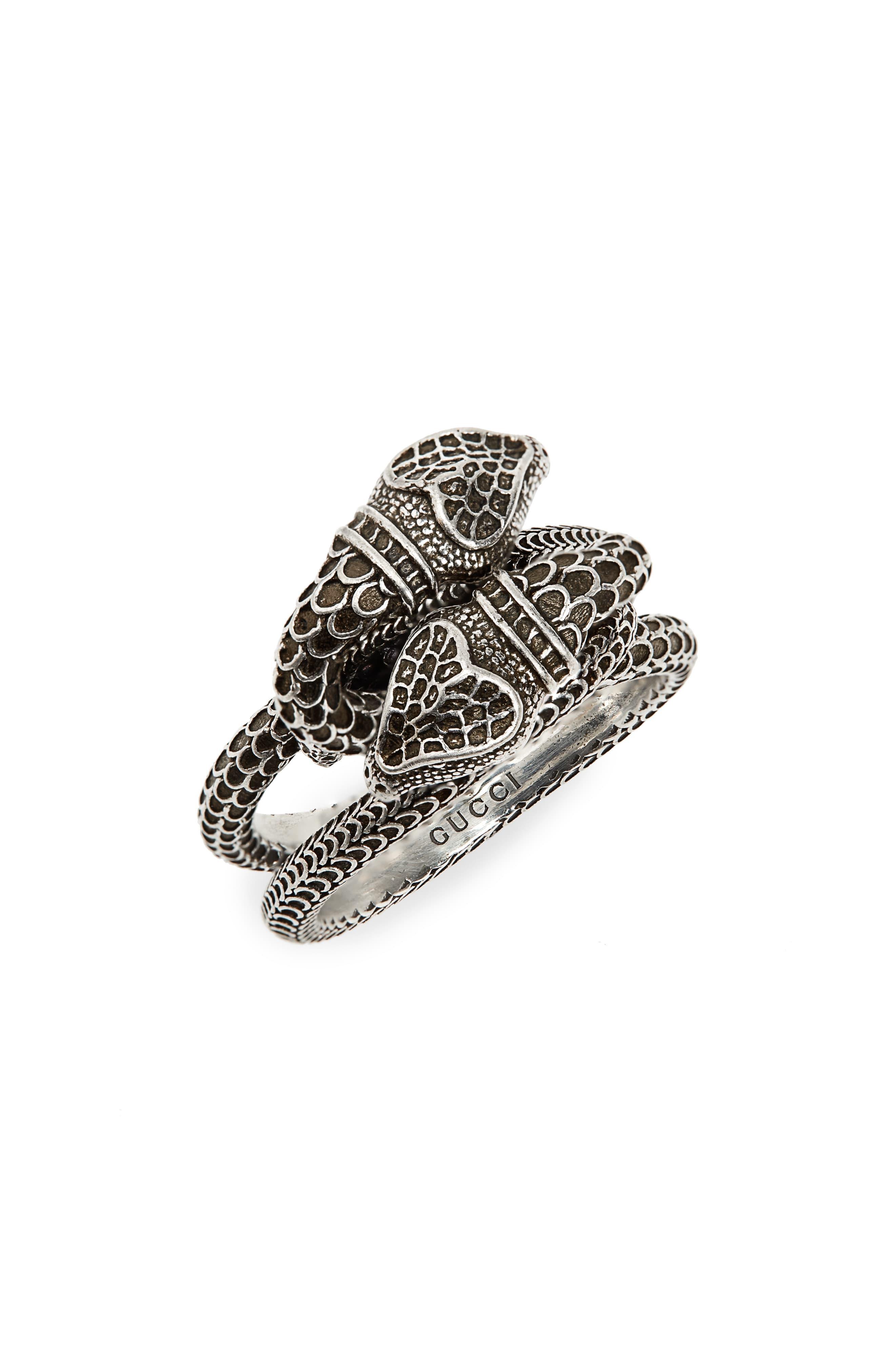 973495dee Gucci - Metallic Snake Ring for Men - Lyst. View fullscreen